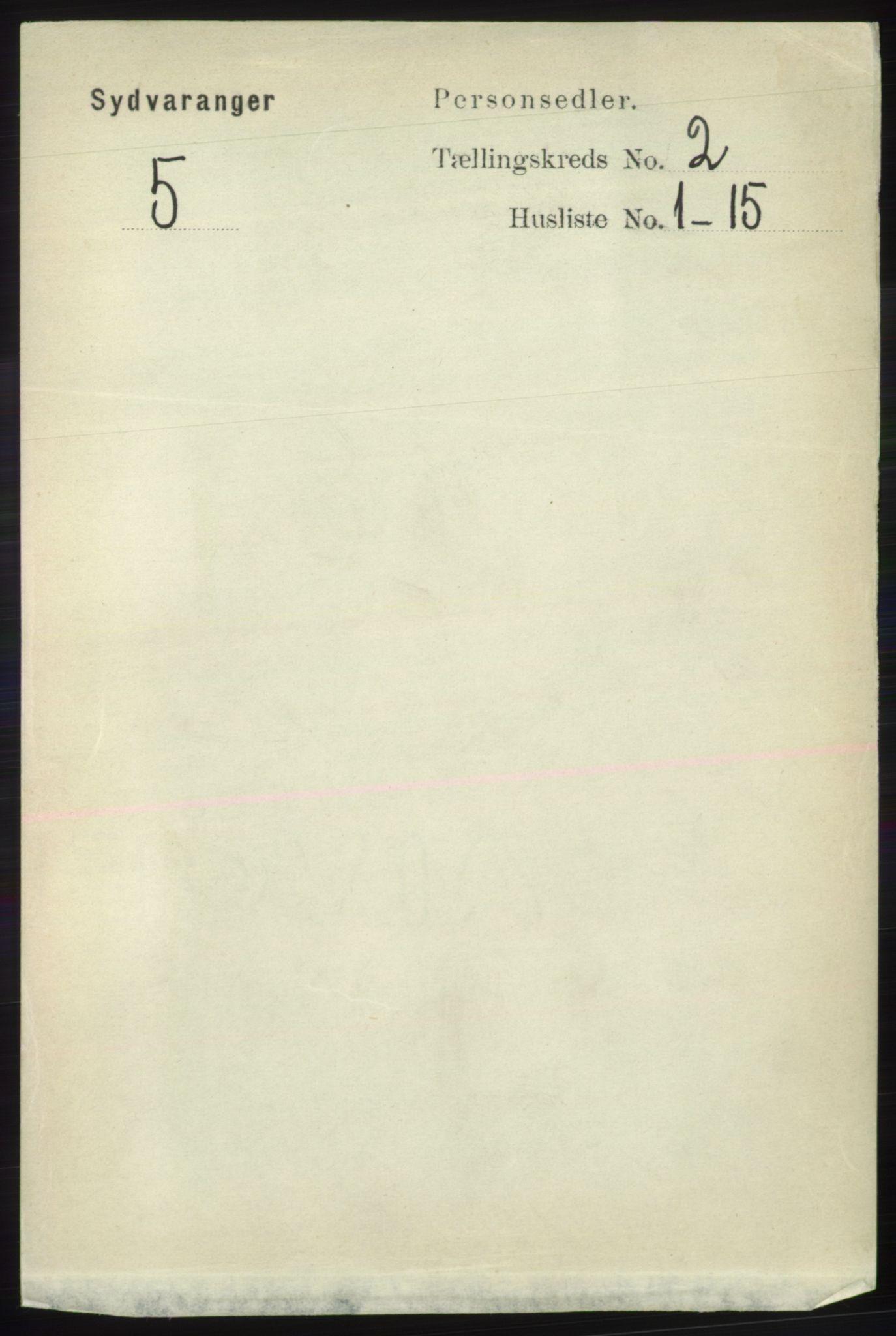 RA, Folketelling 1891 for 2030 Sør-Varanger herred, 1891, s. 400