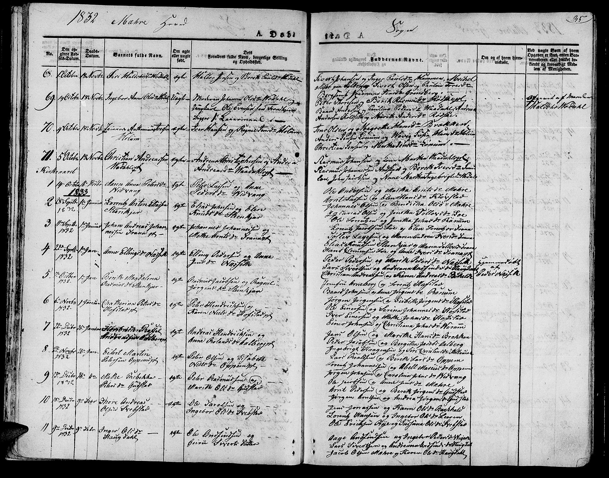 SAT, Ministerialprotokoller, klokkerbøker og fødselsregistre - Nord-Trøndelag, 735/L0336: Ministerialbok nr. 735A05 /1, 1825-1835, s. 35