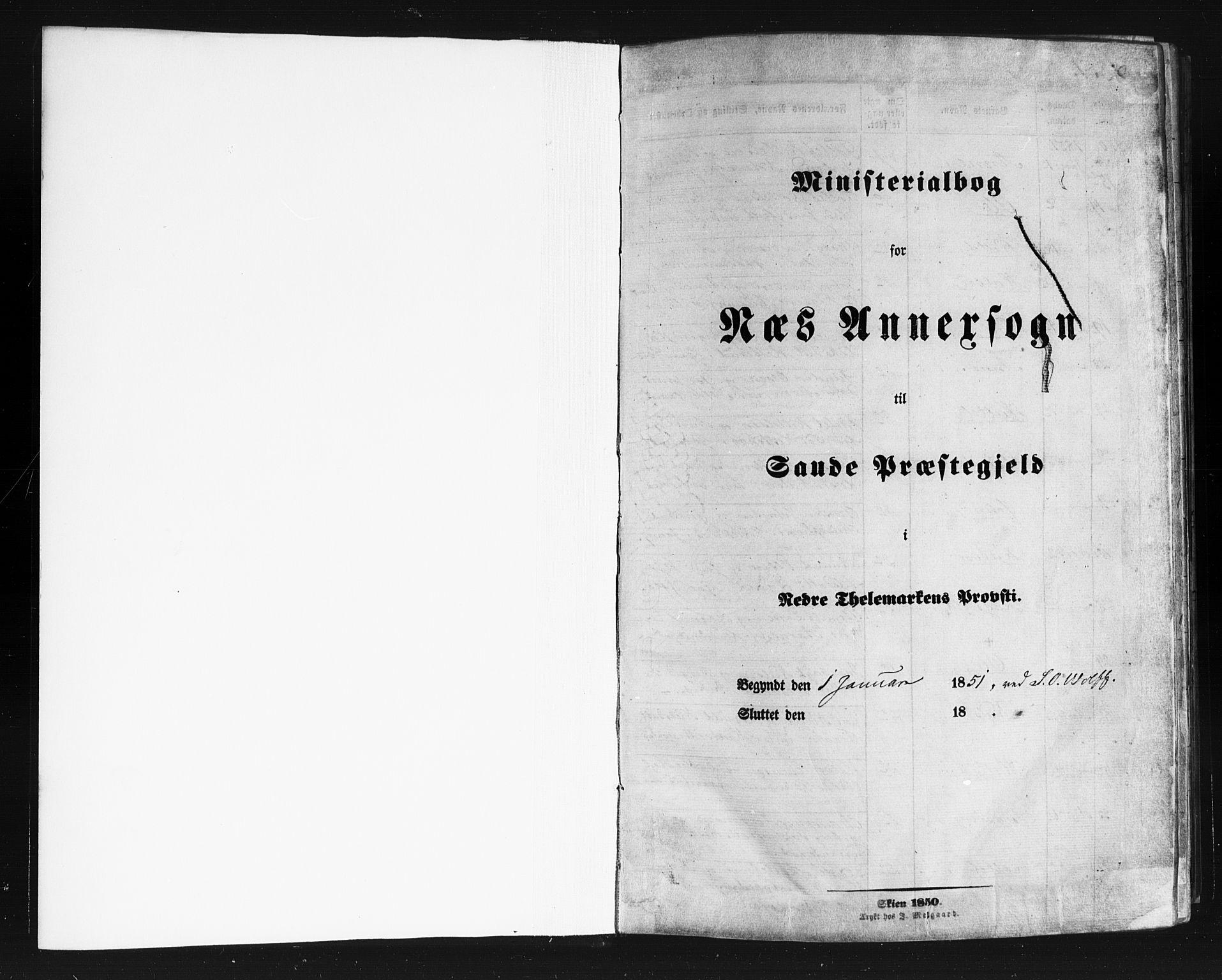 SAKO, Sauherad kirkebøker, F/Fb/L0001: Ministerialbok nr. II 1, 1851-1877