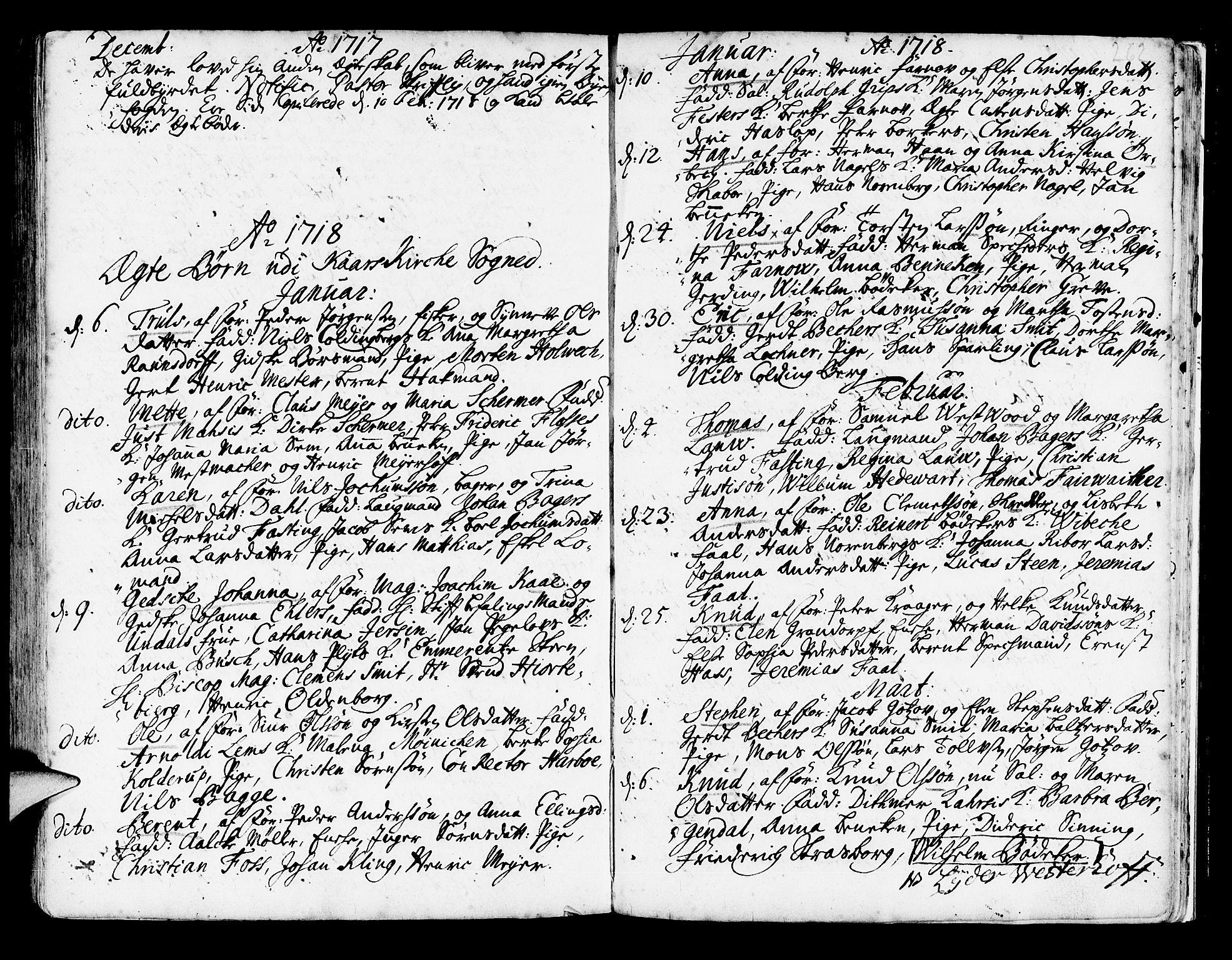 SAB, Korskirken Sokneprestembete, H/Haa/L0003: Ministerialbok nr. A 3, 1698-1719, s. 262