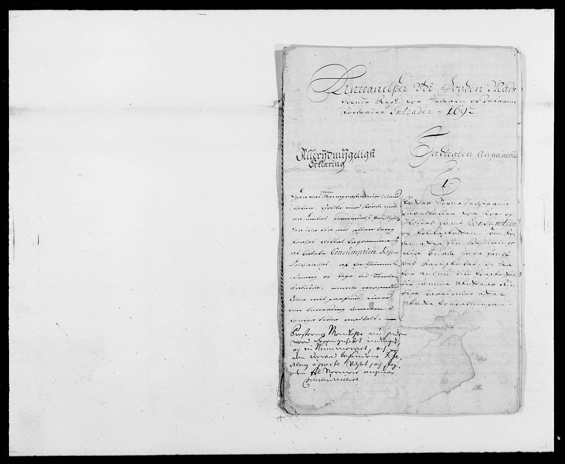 RA, Rentekammeret inntil 1814, Reviderte regnskaper, Fogderegnskap, R46/L2727: Fogderegnskap Jæren og Dalane, 1690-1693, s. 225