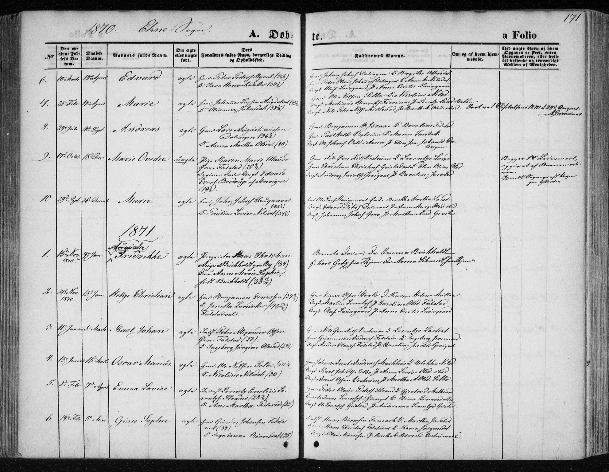 SAT, Ministerialprotokoller, klokkerbøker og fødselsregistre - Nord-Trøndelag, 717/L0158: Ministerialbok nr. 717A08 /2, 1863-1877, s. 171
