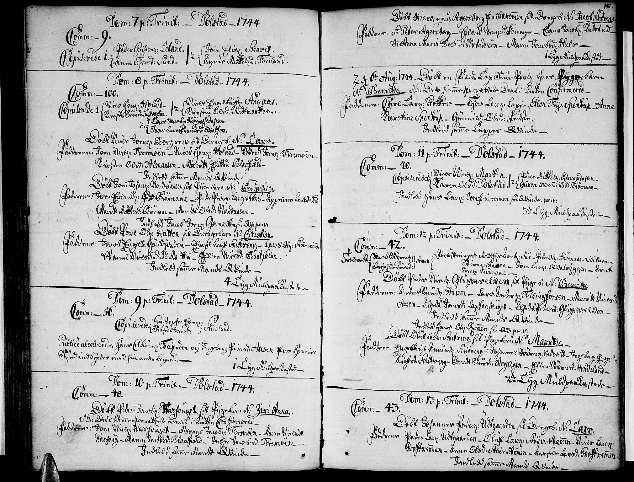 SAT, Ministerialprotokoller, klokkerbøker og fødselsregistre - Nordland, 820/L0284: Ministerialbok nr. 820A05, 1730-1752, s. 145