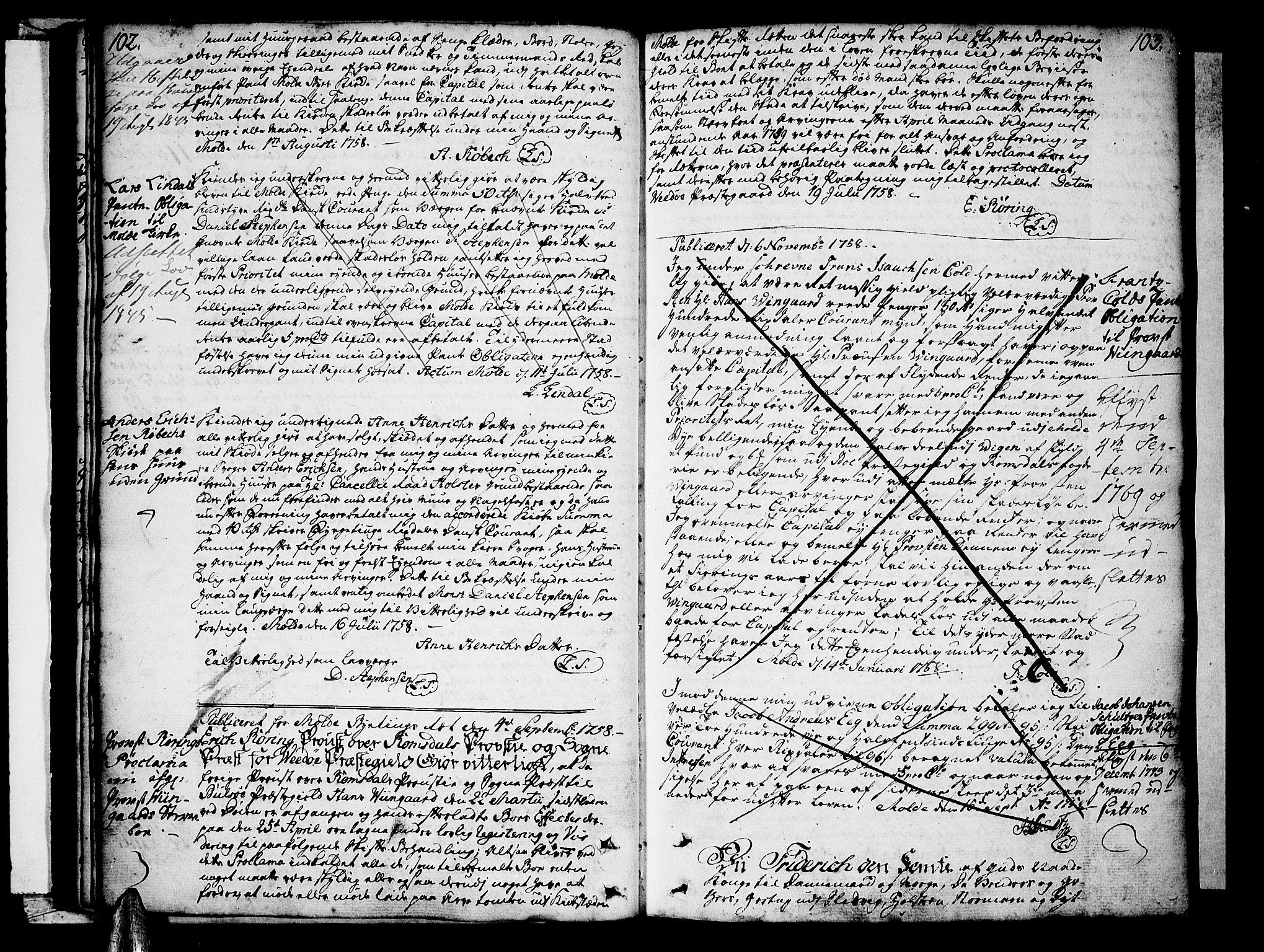 SAT, Molde byfogd, 2C/L0001: Pantebok nr. 1, 1748-1823, s. 102-103