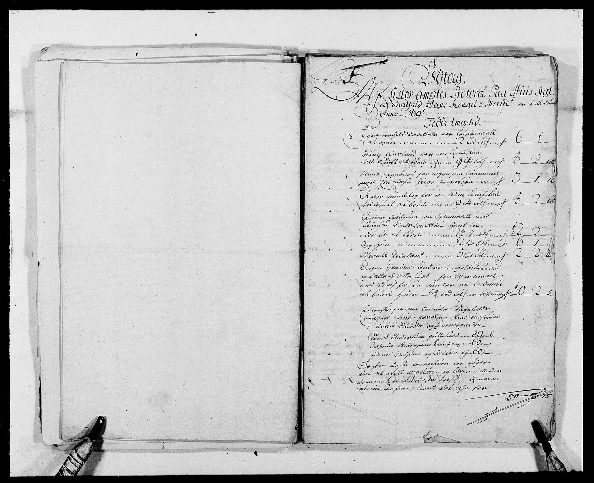RA, Rentekammeret inntil 1814, Reviderte regnskaper, Fogderegnskap, R41/L2536: Fogderegnskap Lista, 1690-1693, s. 143