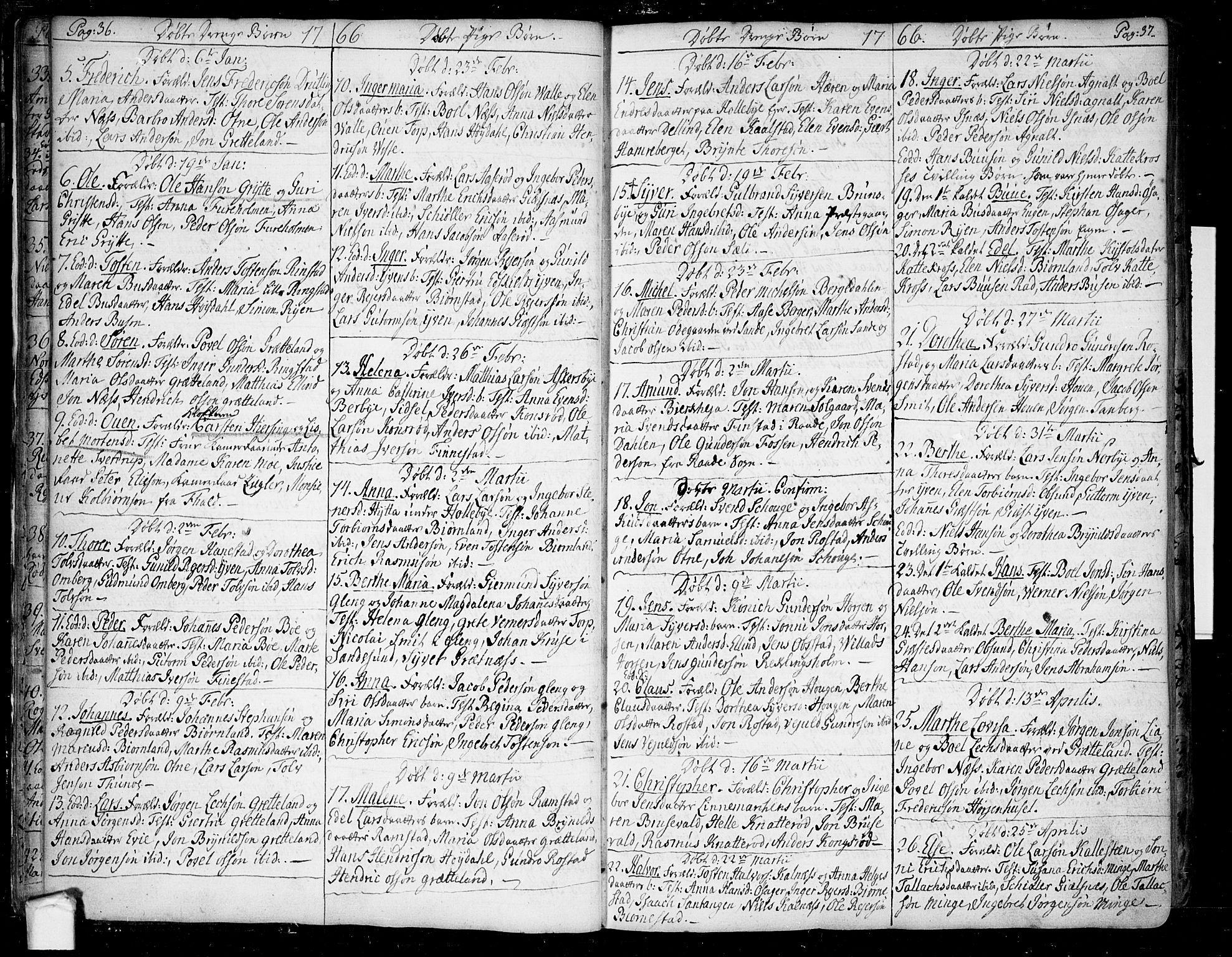 SAO, Tune prestekontor Kirkebøker, F/Fa/L0002: Ministerialbok nr. 2, 1758-1781, s. 36-37