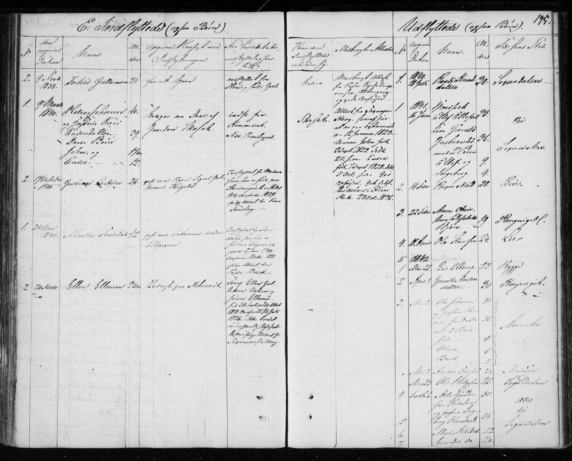 SAKO, Krødsherad kirkebøker, F/Fa/L0002: Ministerialbok nr. 2, 1829-1851, s. 195