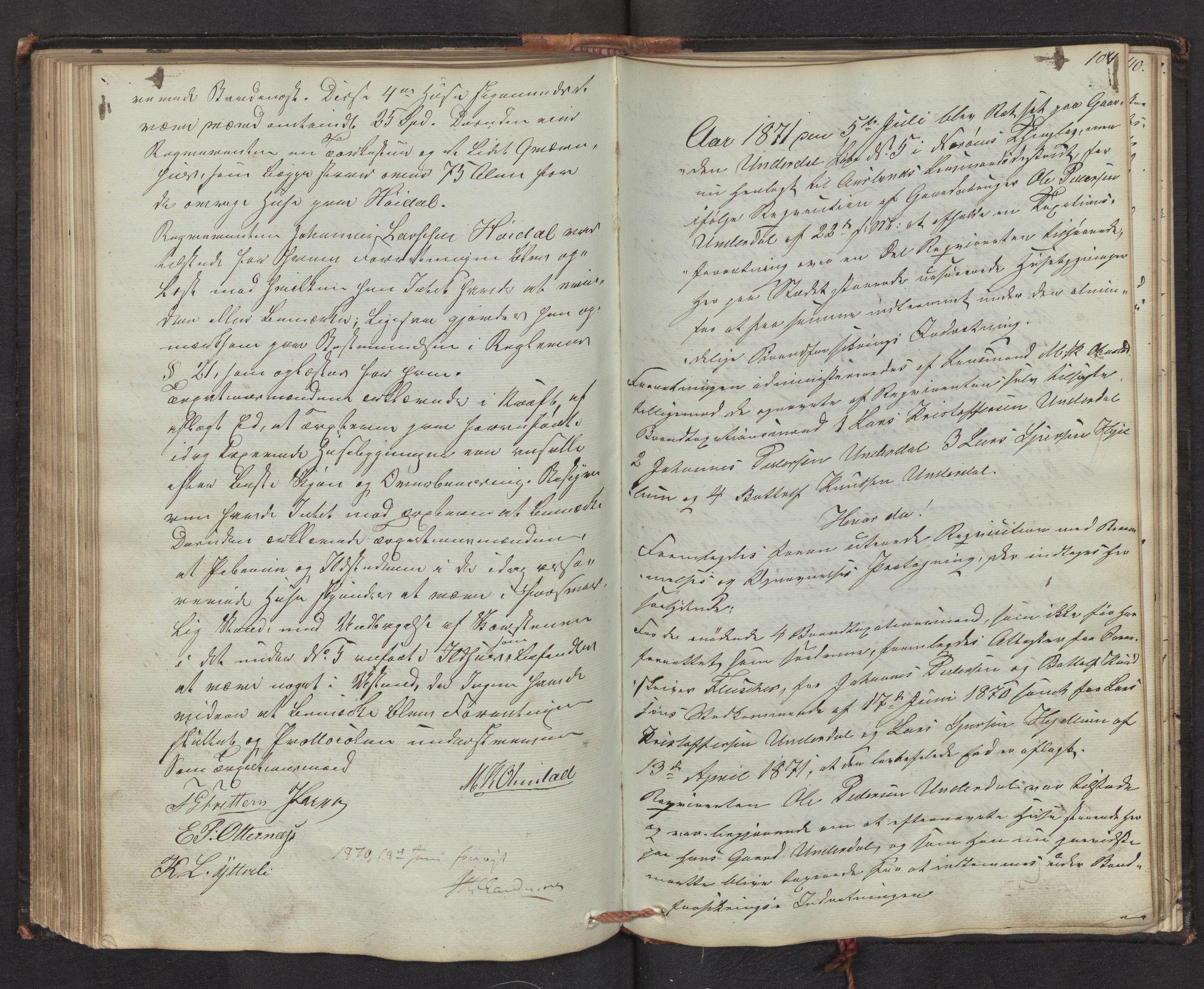 SAB, Lensmannen i Aurland, 0012/L0001: Branntakstprotokoll, 1846-1872, s. 103b-104a