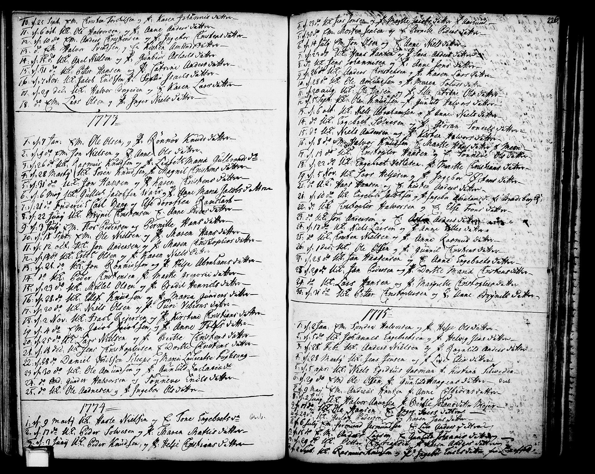 SAKO, Gjerpen kirkebøker, F/Fa/L0002: Ministerialbok nr. 2, 1747-1795, s. 226