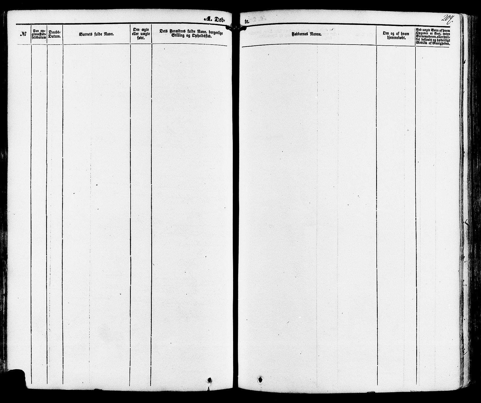 SAKO, Kviteseid kirkebøker, F/Fa/L0007: Ministerialbok nr. I 7, 1859-1881, s. 209