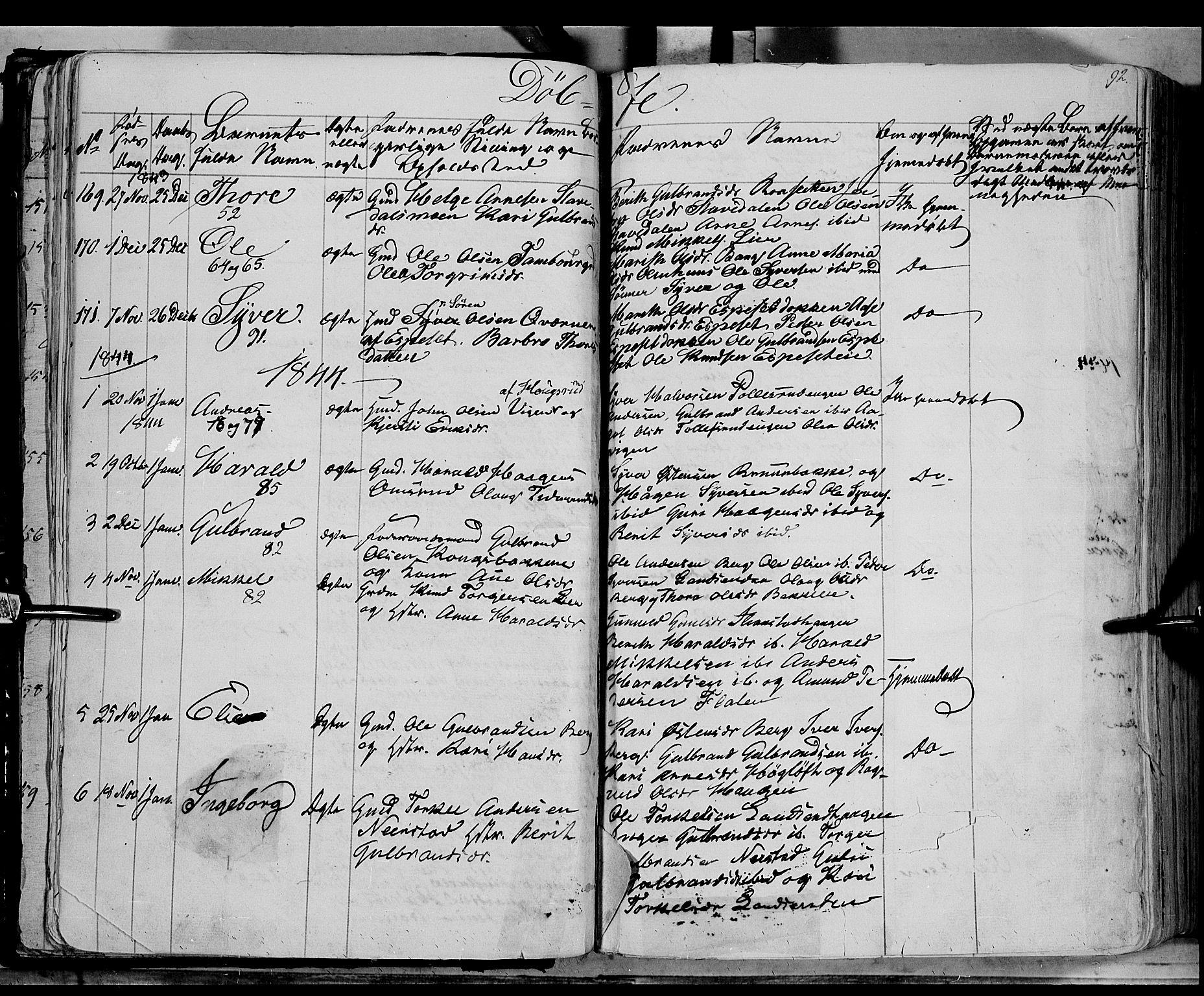 SAH, Sør-Aurdal prestekontor, Ministerialbok nr. 4, 1841-1849, s. 91-92