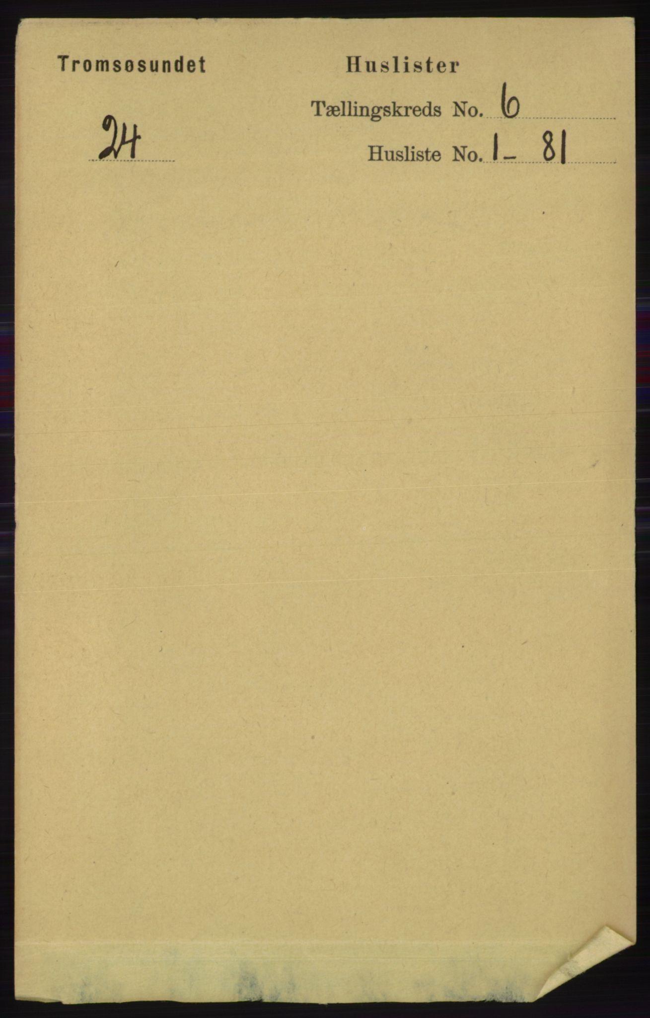 RA, Folketelling 1891 for 1934 Tromsøysund herred, 1891, s. 2915