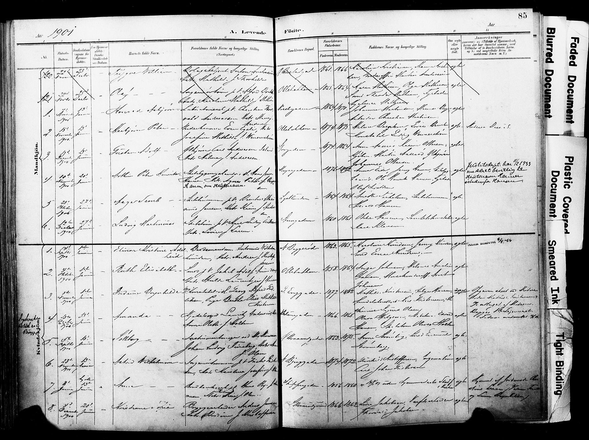 SAKO, Horten kirkebøker, F/Fa/L0005: Ministerialbok nr. 5, 1896-1904, s. 85