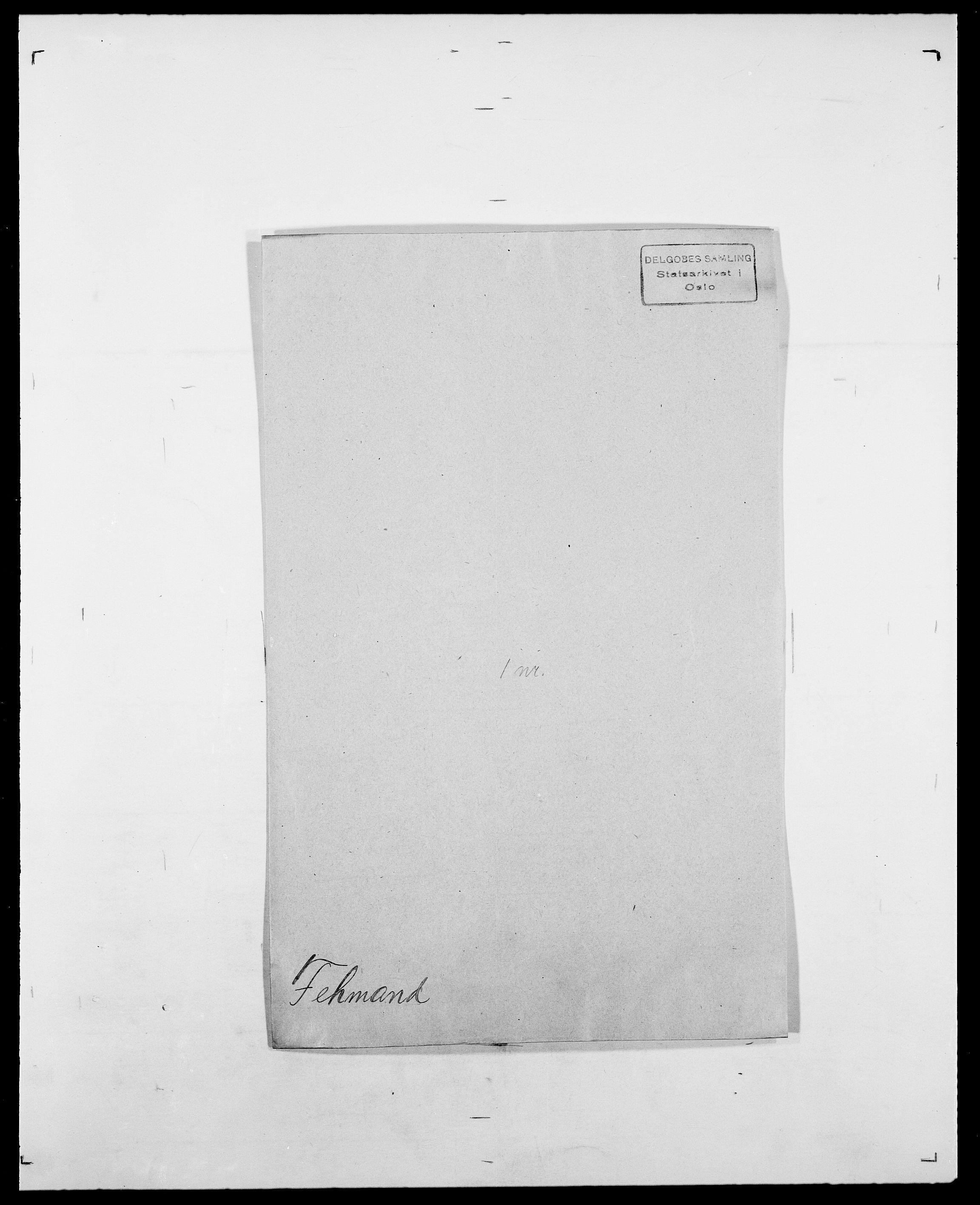 SAO, Delgobe, Charles Antoine - samling, D/Da/L0011: Fahlander - Flood, Flod, s. 306