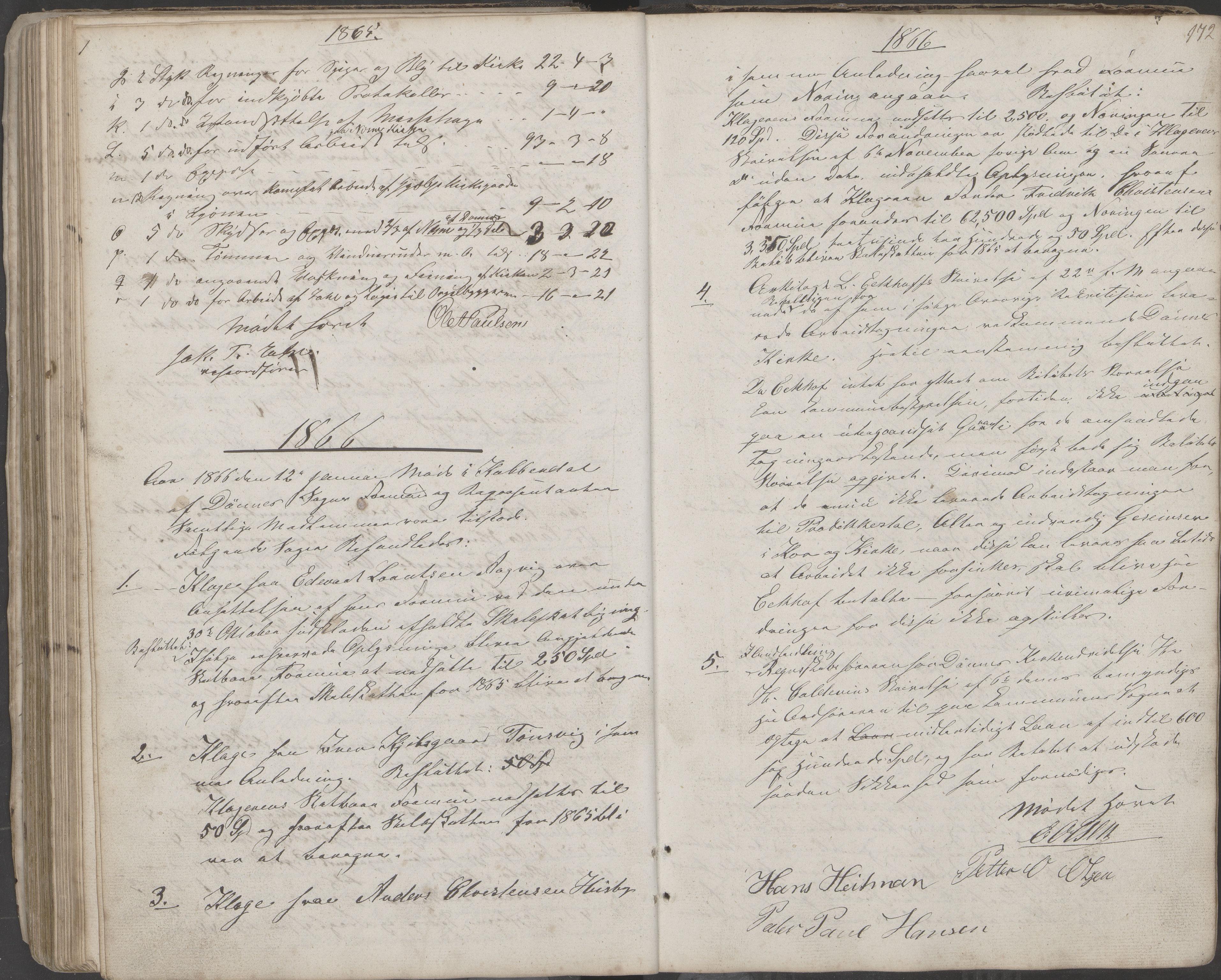 AIN, Nesna kommune. Formannskapet, 100/L0001: Møtebok, 1838-1873, s. 172