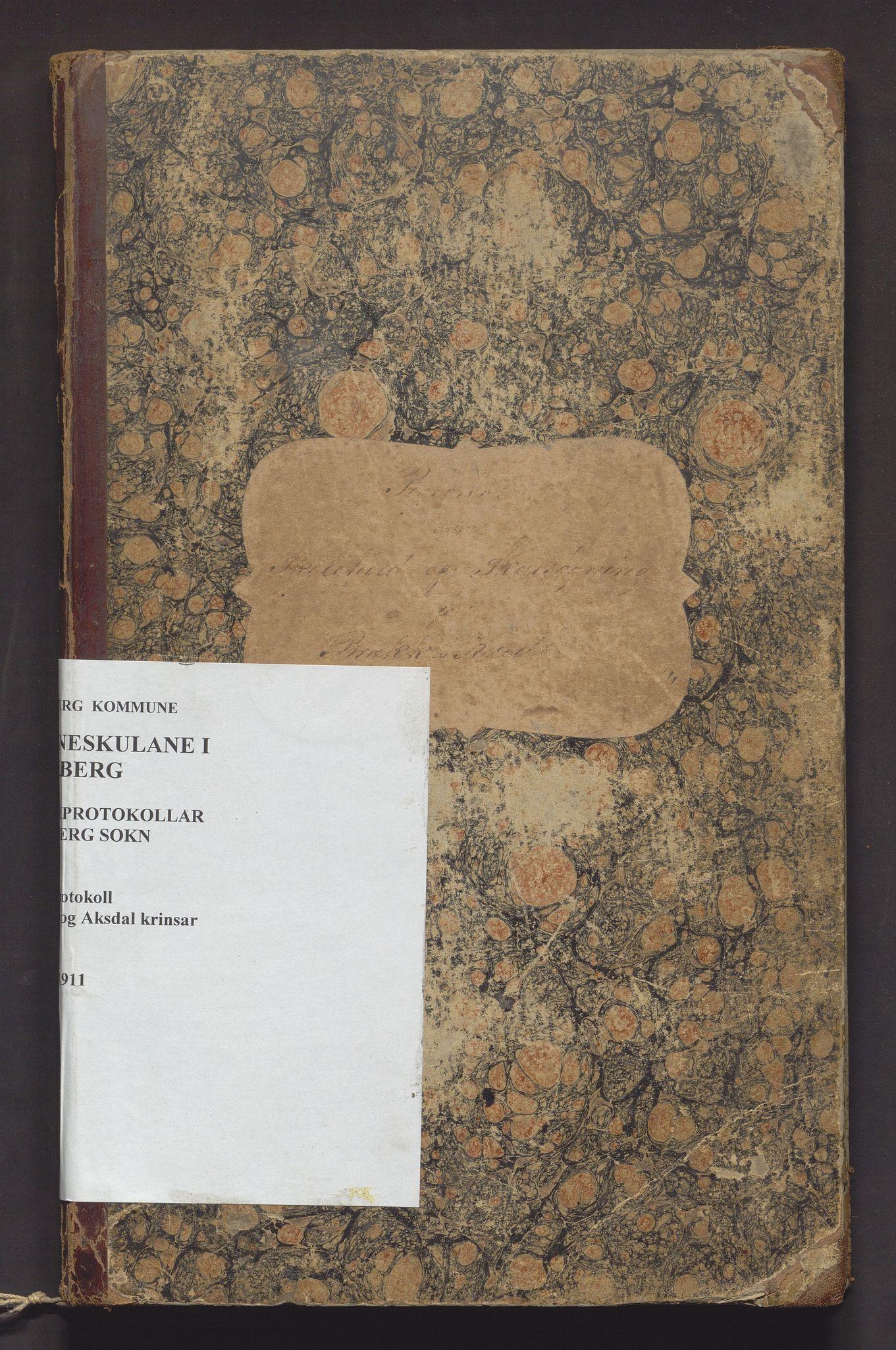 IKAH, Fjelberg kommune. Barneskulane, F/Fa/L0007: Skuleprotokoll for Brekke og Aksdal krinsar , 1885-1911