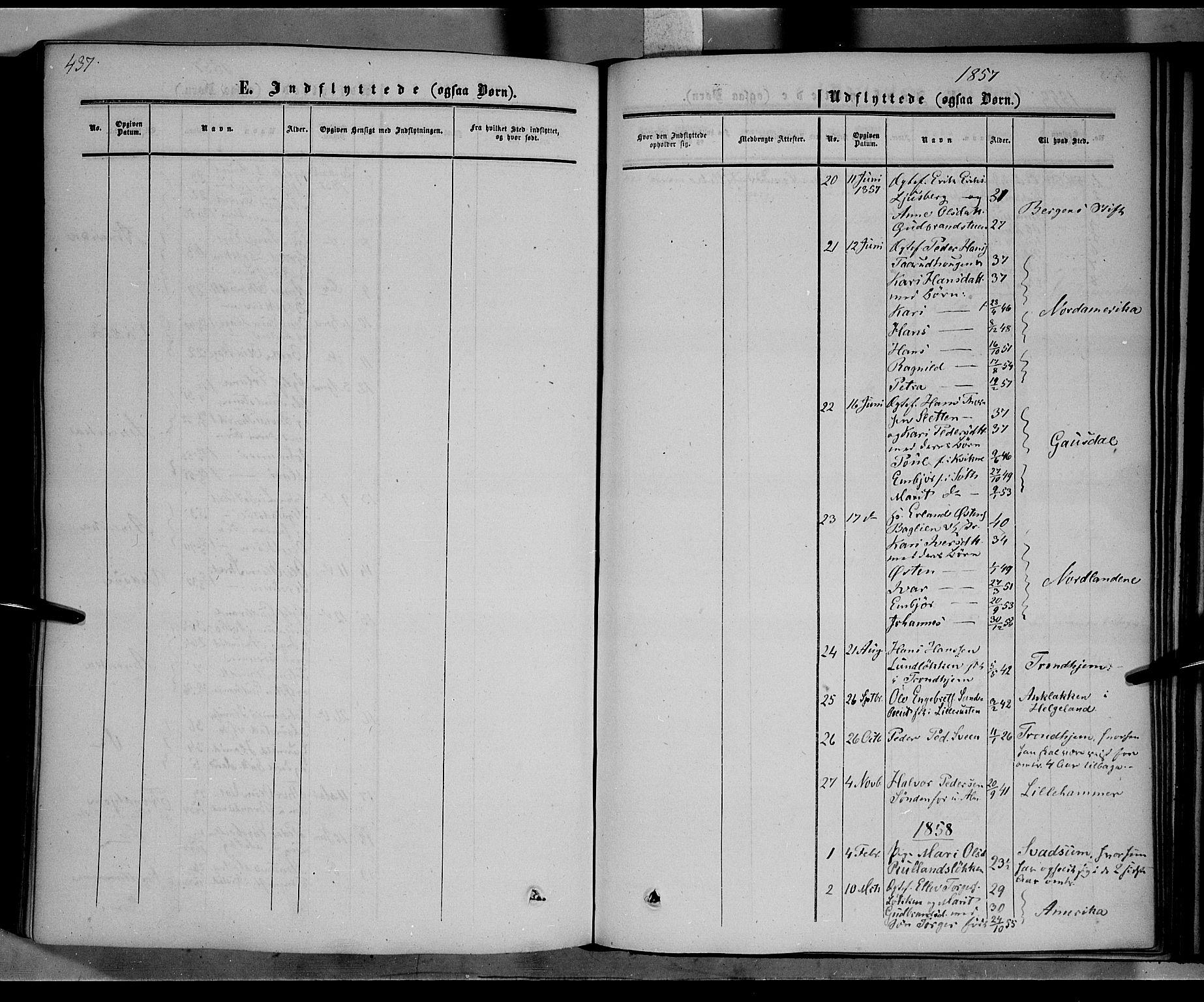 SAH, Nord-Fron prestekontor, Ministerialbok nr. 1, 1851-1864, s. 437