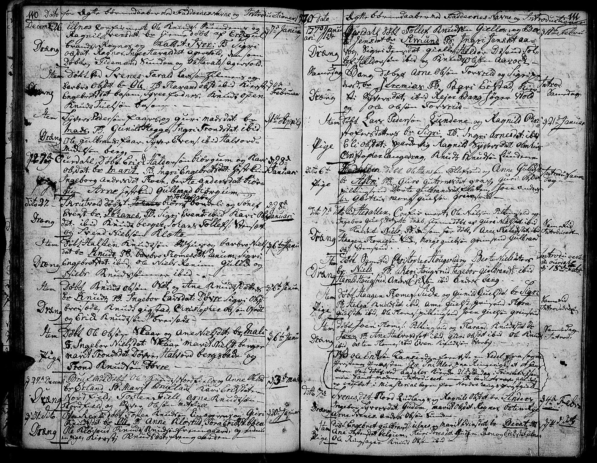 SAH, Aurdal prestekontor, Ministerialbok nr. 5, 1763-1781, s. 110-111