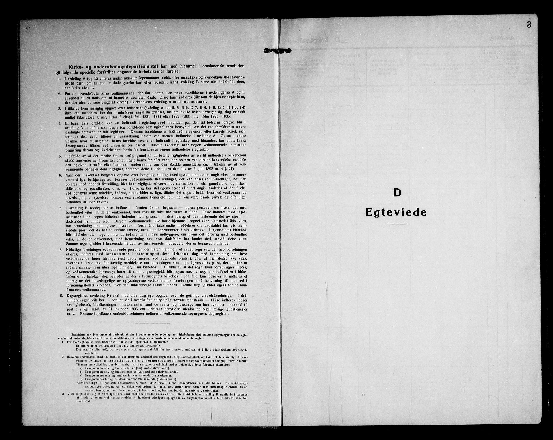 SAO, Asker prestekontor Kirkebøker, F/Fa/L0020: Ministerialbok nr. I 20, 1918-1948, s. 3