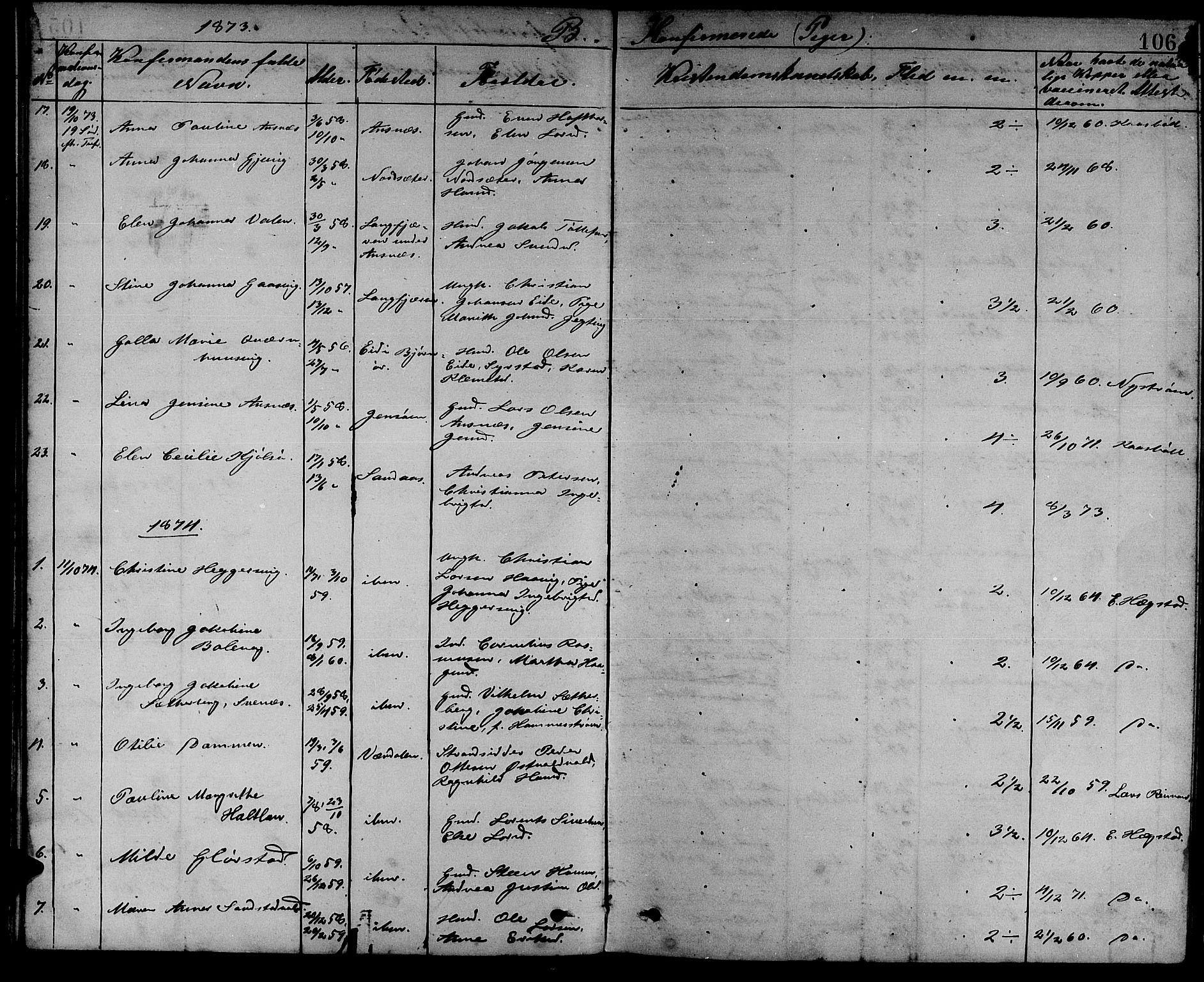 SAT, Ministerialprotokoller, klokkerbøker og fødselsregistre - Sør-Trøndelag, 637/L0561: Klokkerbok nr. 637C02, 1873-1882, s. 106