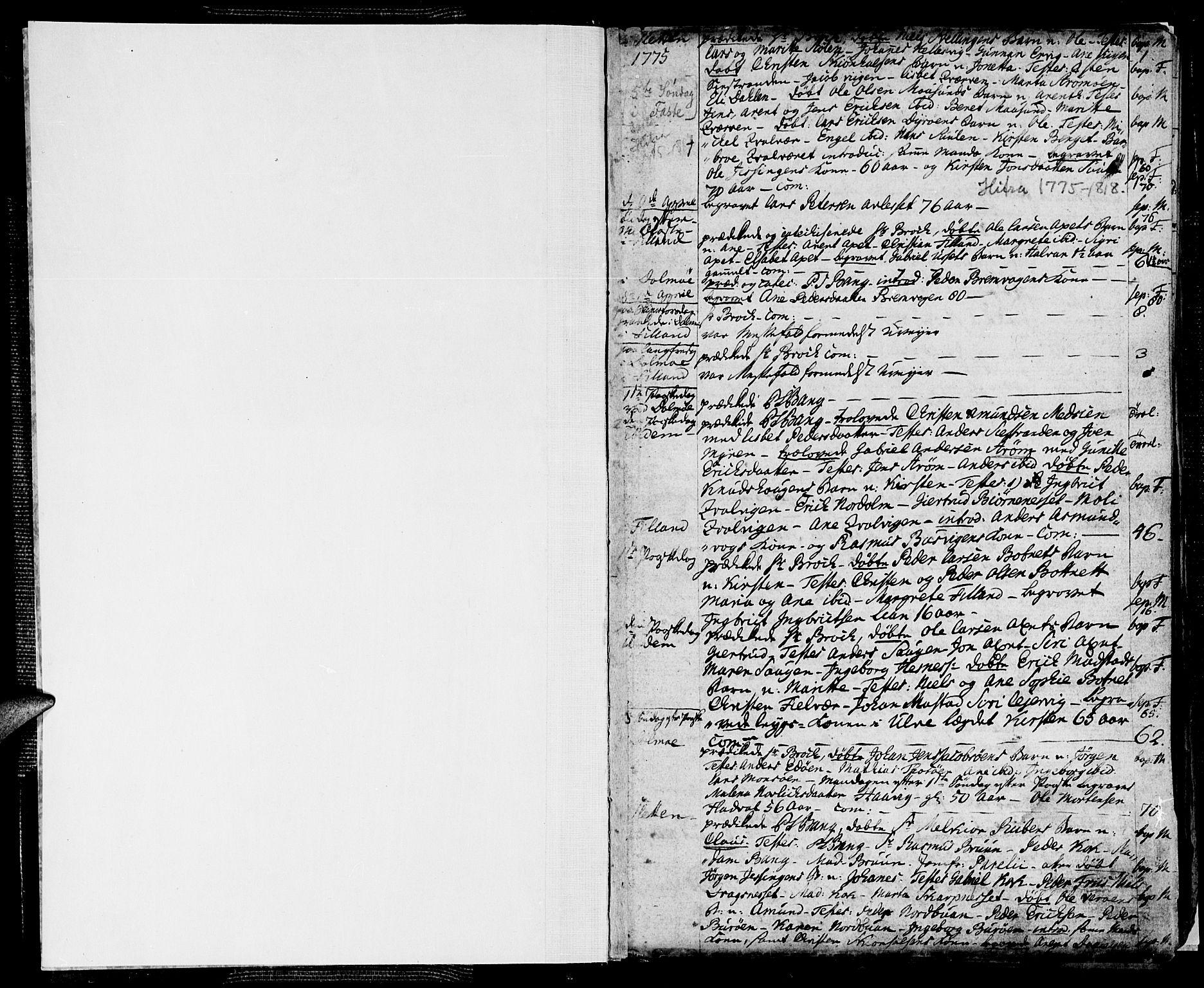 SAT, Ministerialprotokoller, klokkerbøker og fødselsregistre - Sør-Trøndelag, 634/L0526: Ministerialbok nr. 634A02, 1775-1818, s. 1