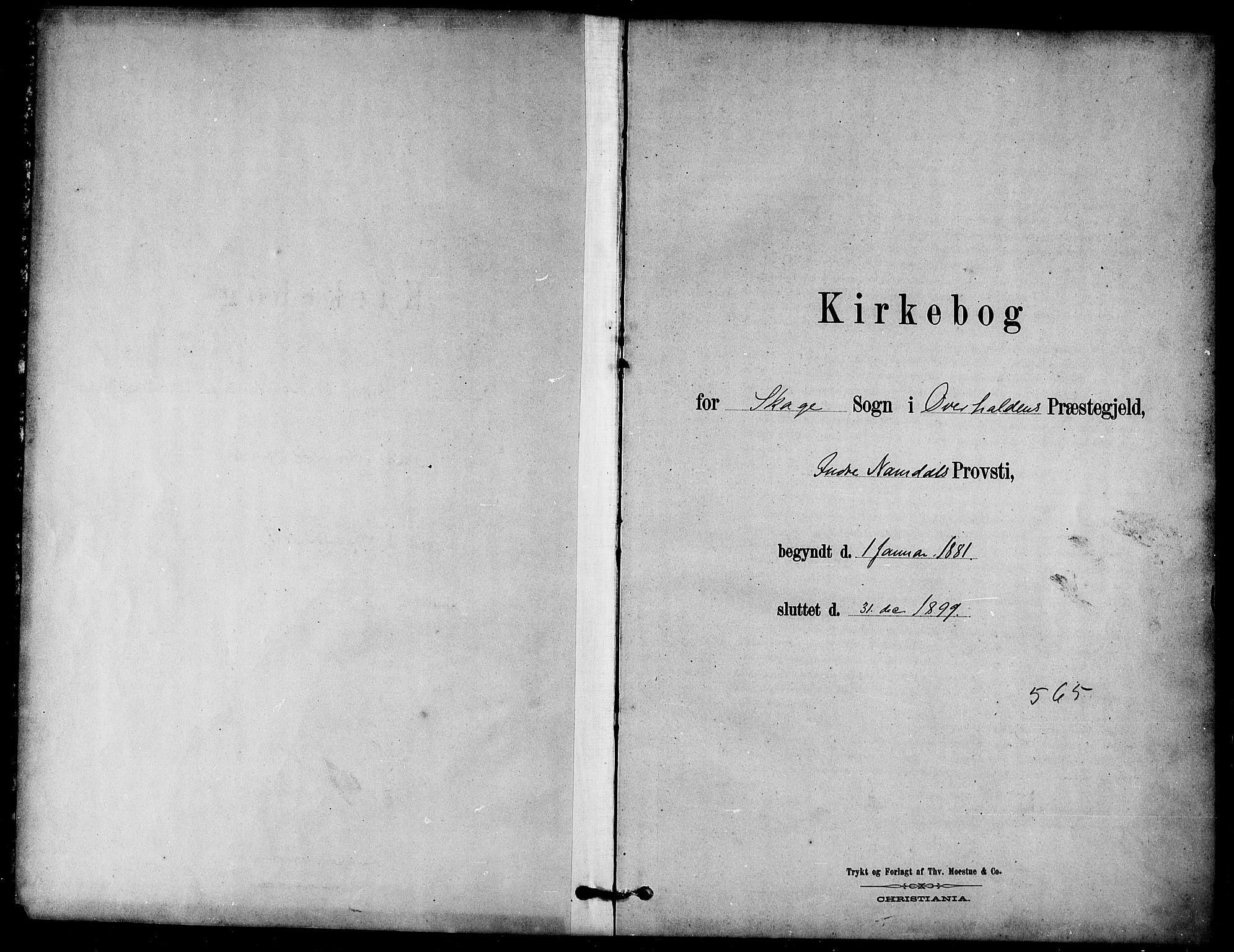SAT, Ministerialprotokoller, klokkerbøker og fødselsregistre - Nord-Trøndelag, 766/L0563: Ministerialbok nr. 767A01, 1881-1899