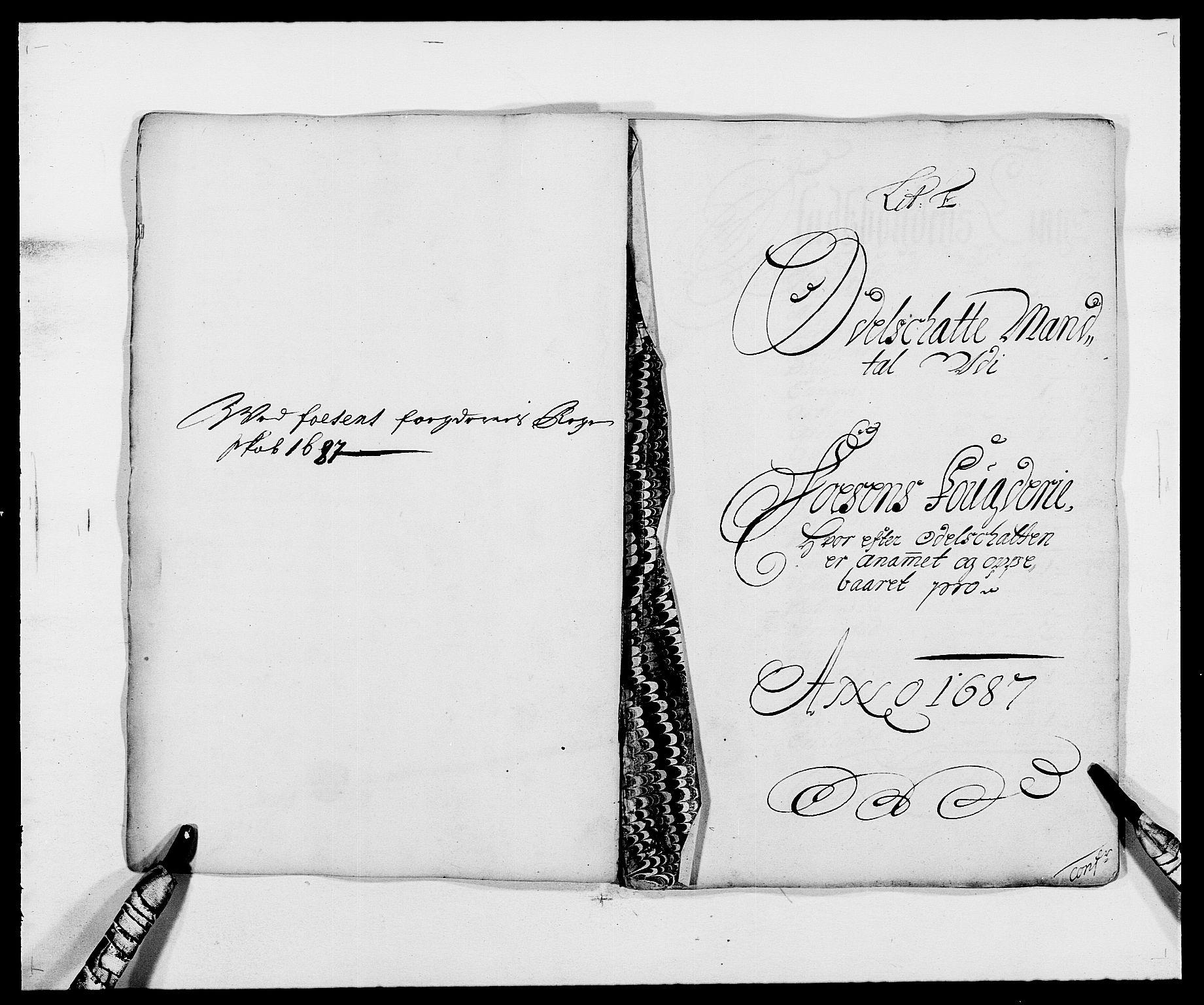 RA, Rentekammeret inntil 1814, Reviderte regnskaper, Fogderegnskap, R57/L3845: Fogderegnskap Fosen, 1687, s. 34