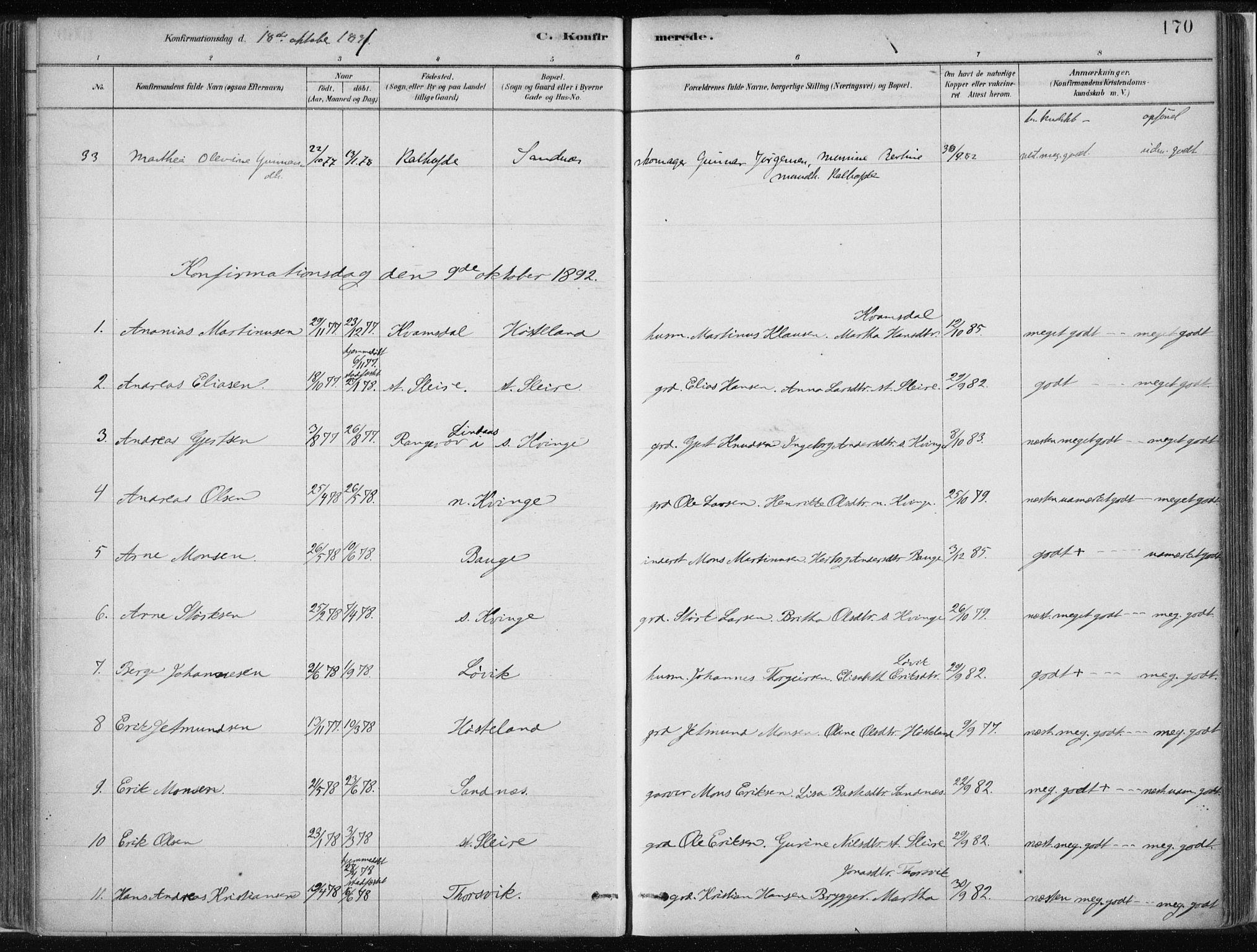 SAB, Masfjorden Soknepresembete, Ministerialbok nr. B  1, 1876-1899, s. 170