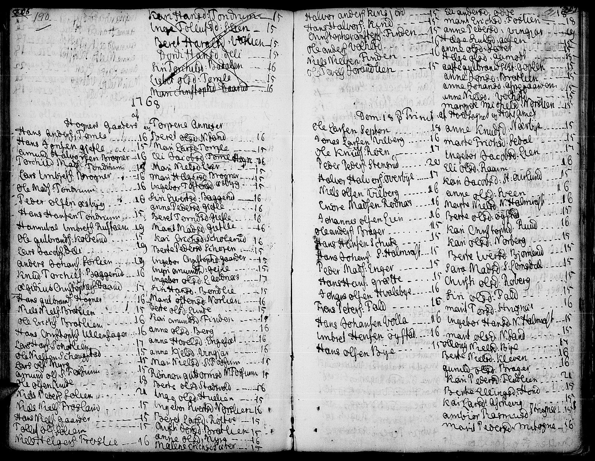 SAH, Land prestekontor, Ministerialbok nr. 5, 1765-1784, s. 190-191