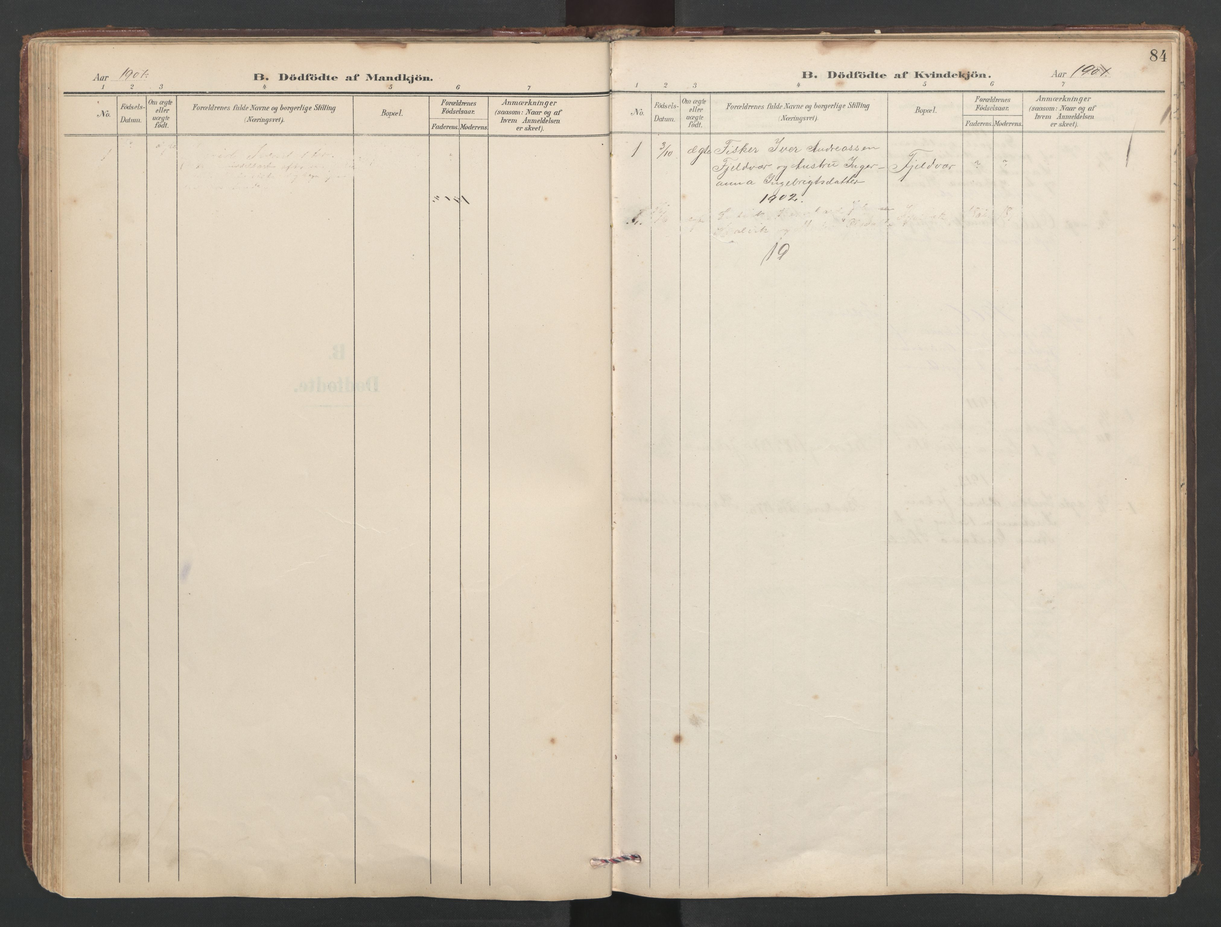 SAT, Ministerialprotokoller, klokkerbøker og fødselsregistre - Sør-Trøndelag, 638/L0571: Klokkerbok nr. 638C03, 1901-1930, s. 84