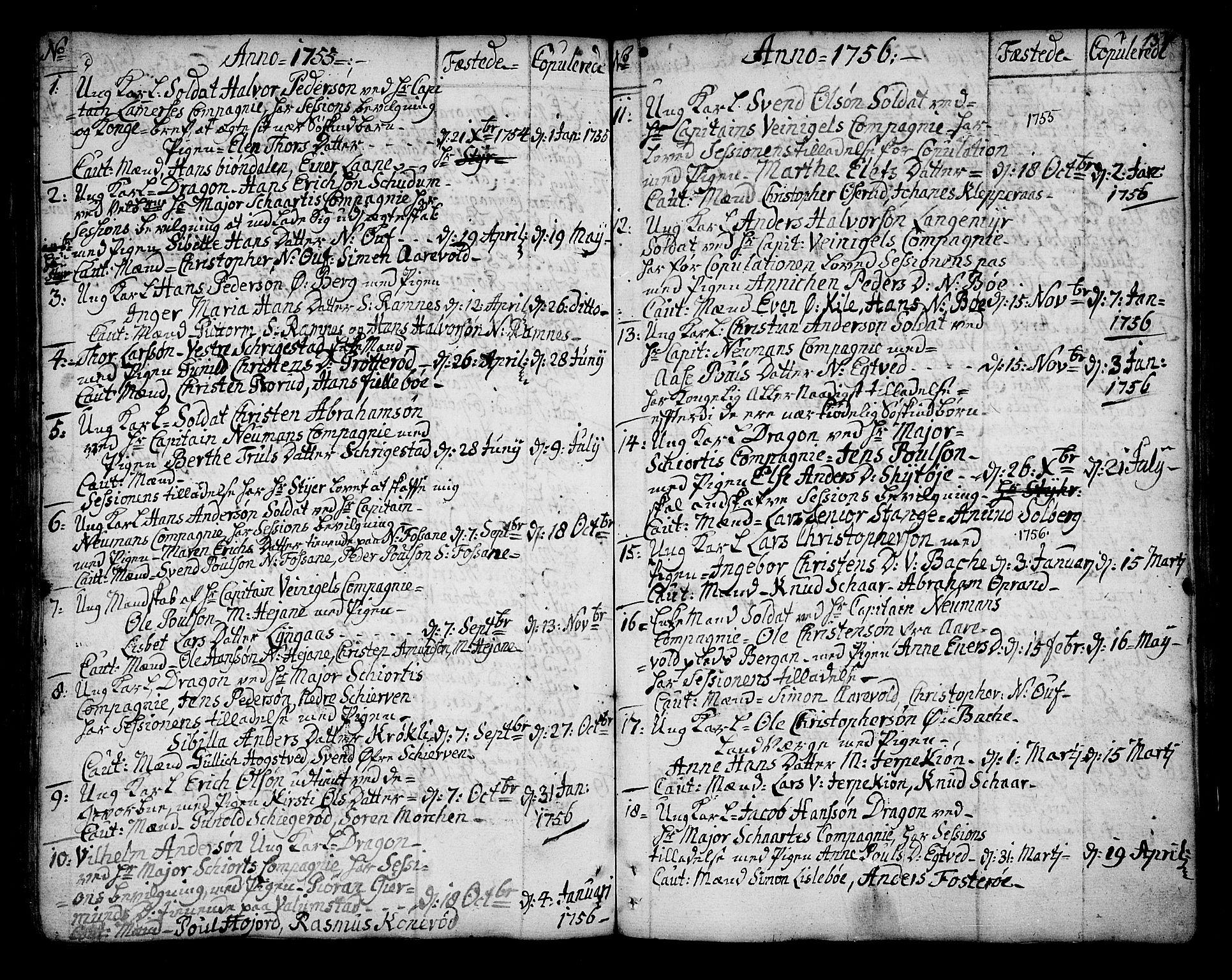SAKO, Ramnes kirkebøker, F/Fa/L0001: Ministerialbok nr. I 1, 1732-1774, s. 154