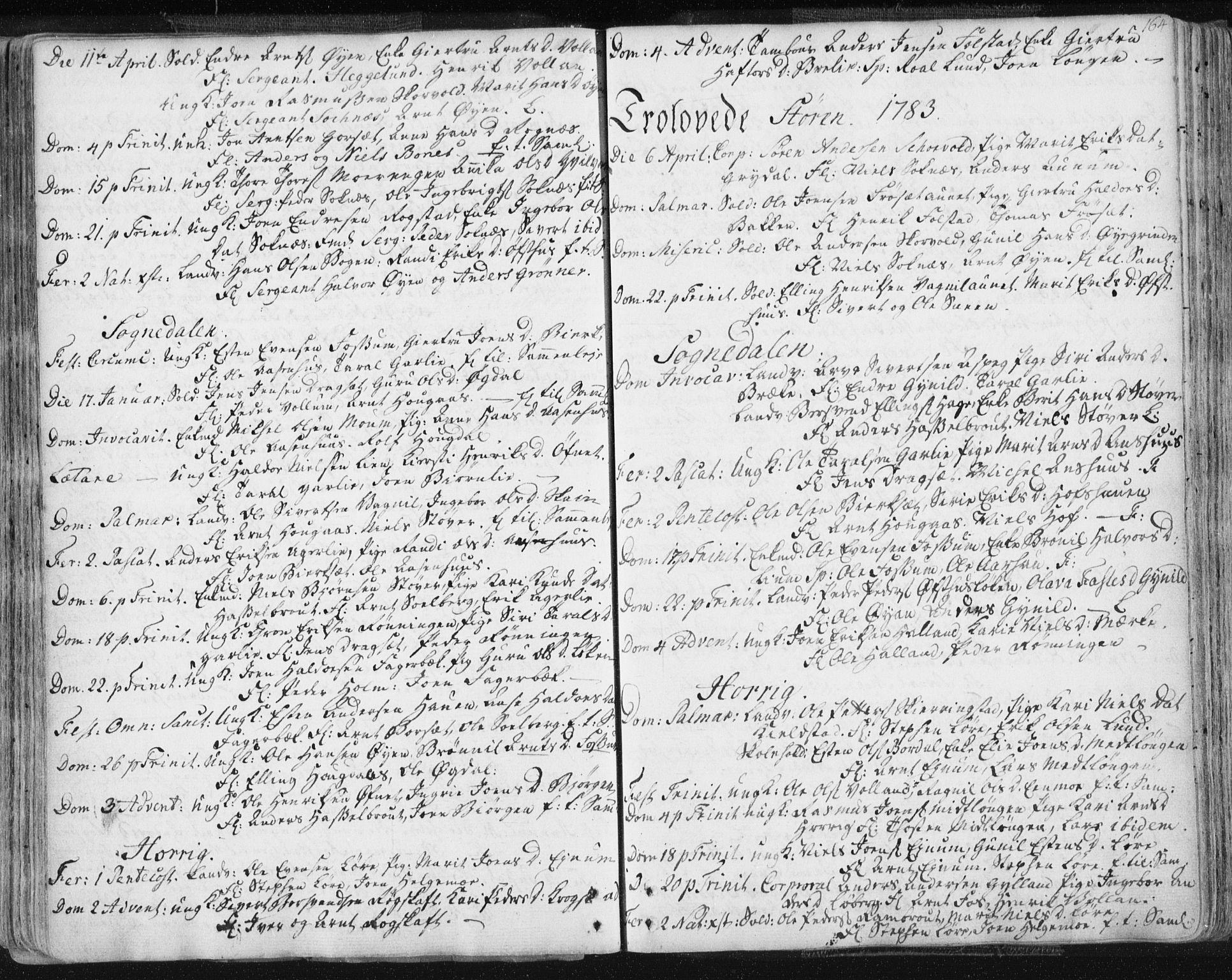 SAT, Ministerialprotokoller, klokkerbøker og fødselsregistre - Sør-Trøndelag, 687/L0991: Ministerialbok nr. 687A02, 1747-1790, s. 164