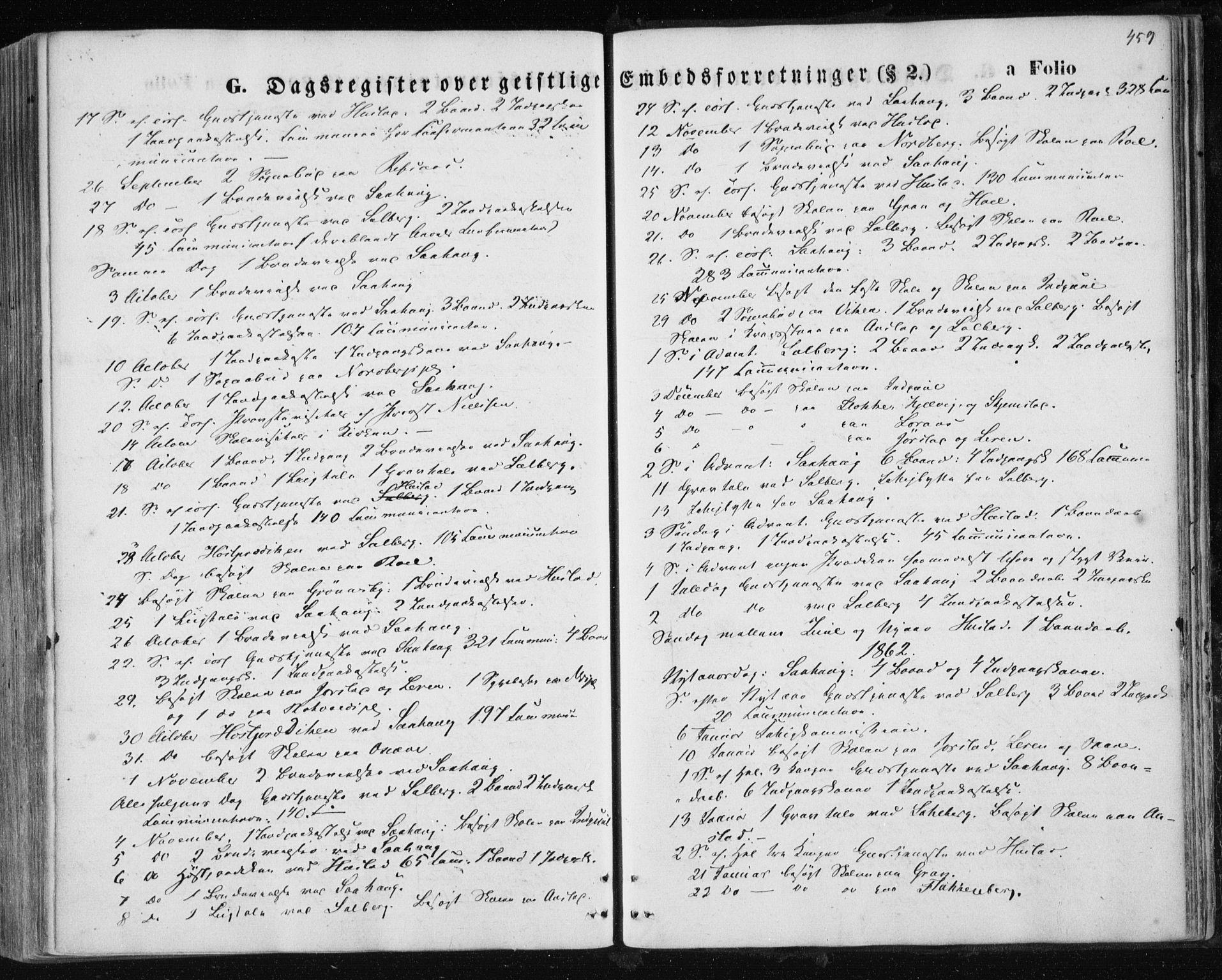 SAT, Ministerialprotokoller, klokkerbøker og fødselsregistre - Nord-Trøndelag, 730/L0283: Ministerialbok nr. 730A08, 1855-1865, s. 459