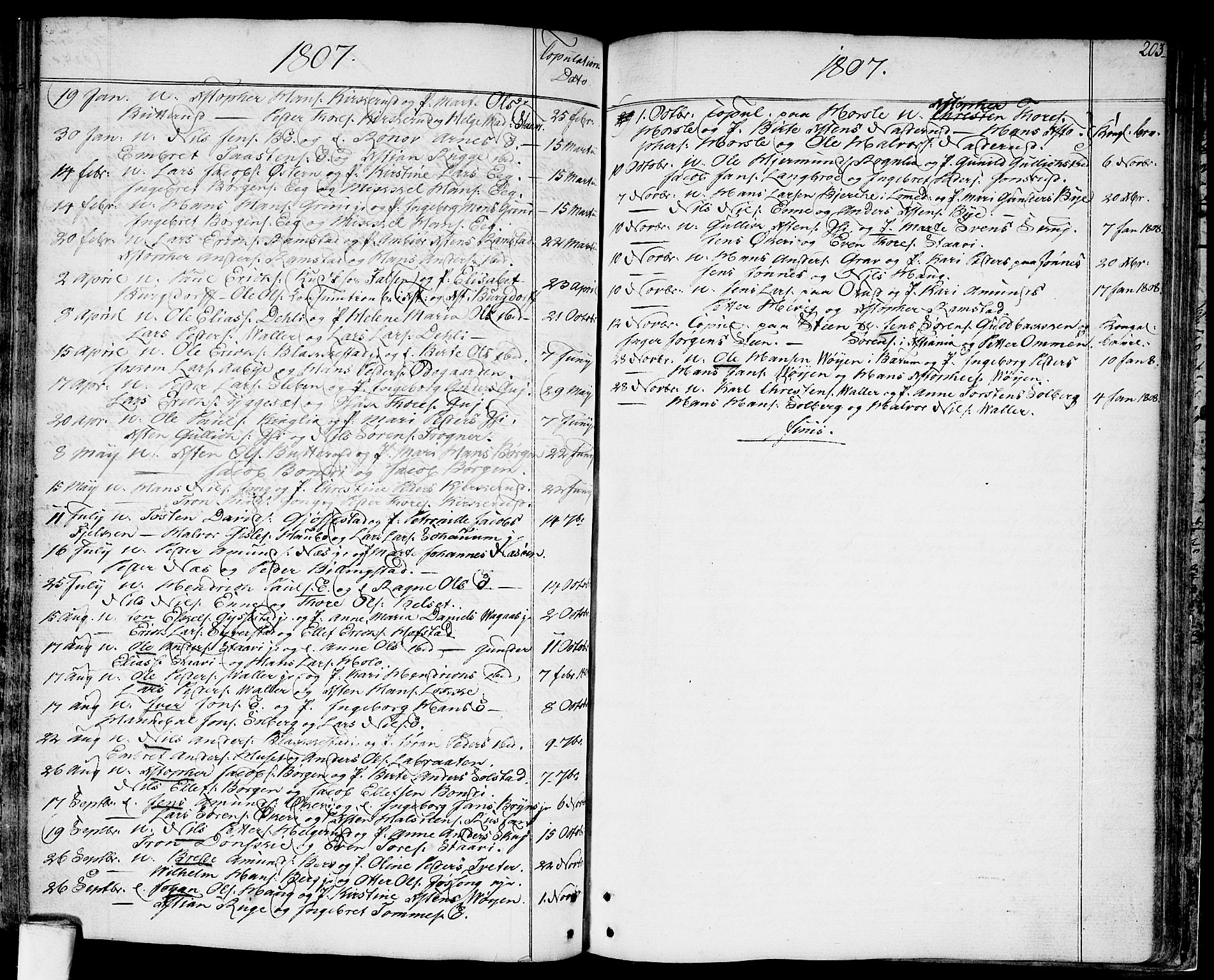SAO, Asker prestekontor Kirkebøker, F/Fa/L0003: Ministerialbok nr. I 3, 1767-1807, s. 203