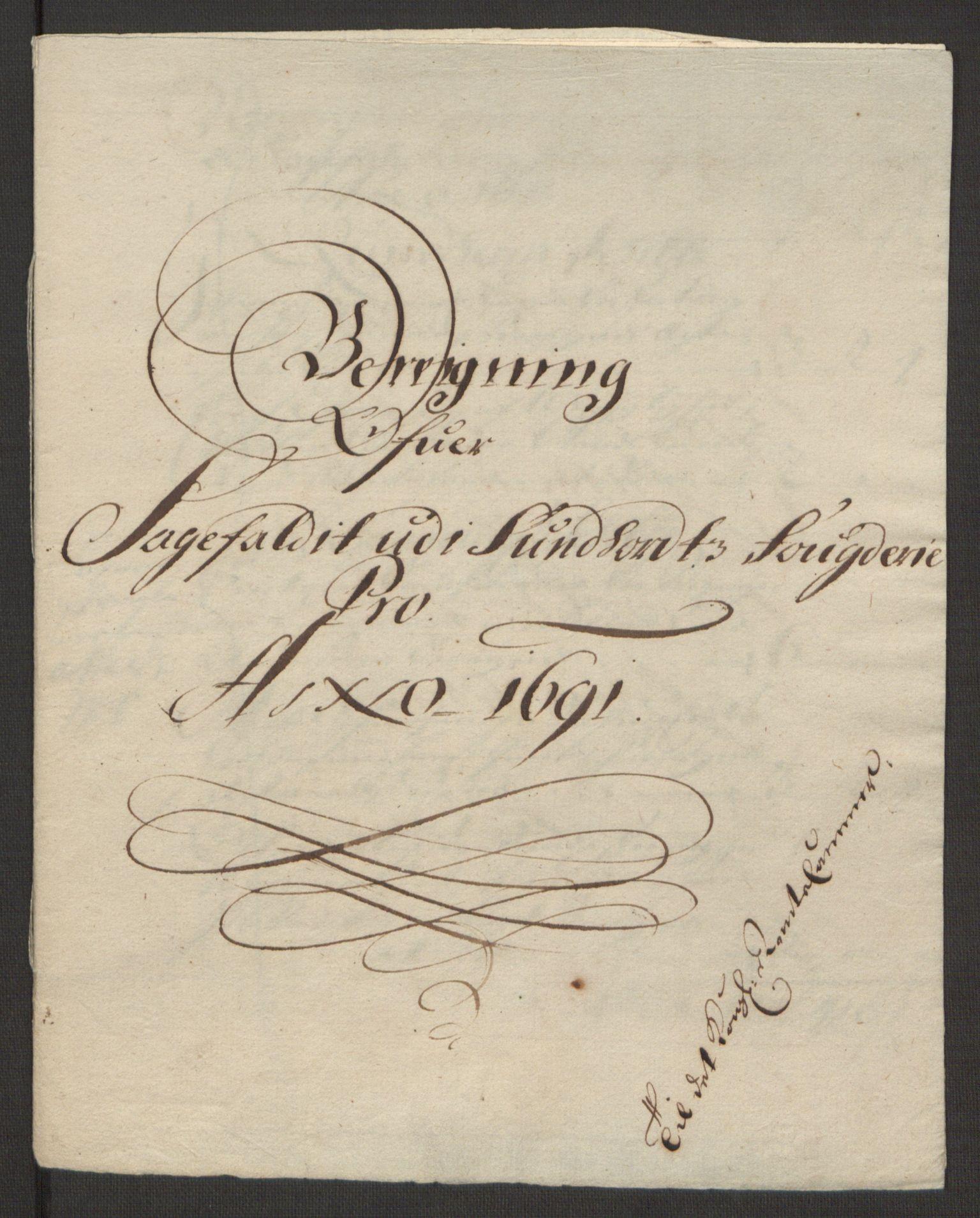 RA, Rentekammeret inntil 1814, Reviderte regnskaper, Fogderegnskap, R48/L2973: Fogderegnskap Sunnhordland og Hardanger, 1691-1692, s. 139