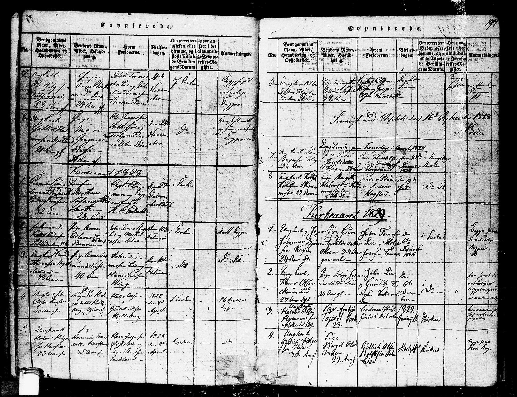 SAKO, Gransherad kirkebøker, F/Fa/L0001: Ministerialbok nr. I 1, 1815-1843, s. 197