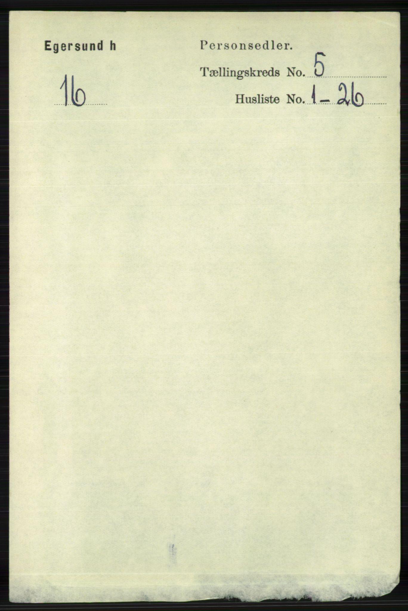RA, Folketelling 1891 for 1116 Eigersund herred, 1891, s. 2044