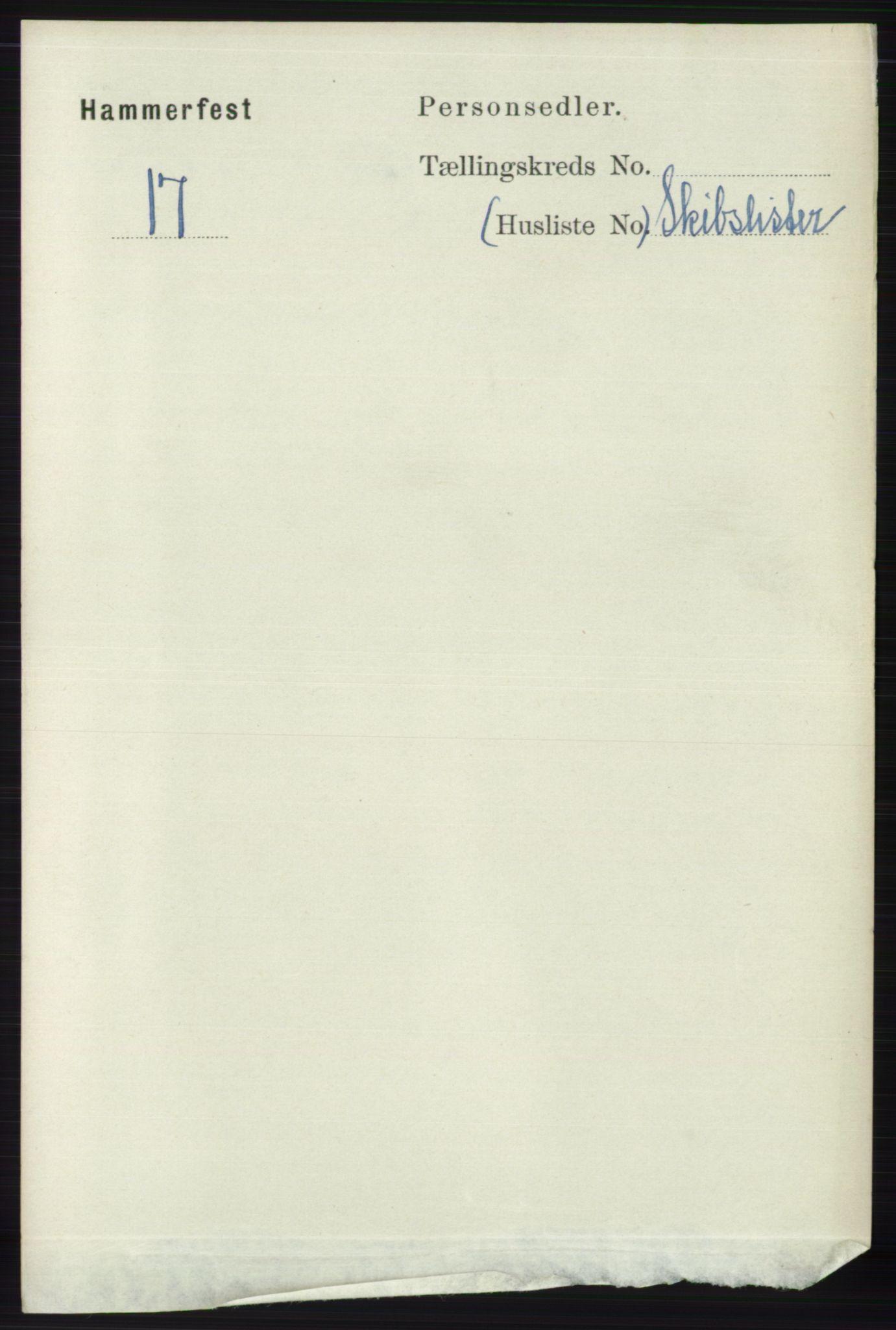 RA, Folketelling 1891 for 2001 Hammerfest kjøpstad, 1891, s. 2778