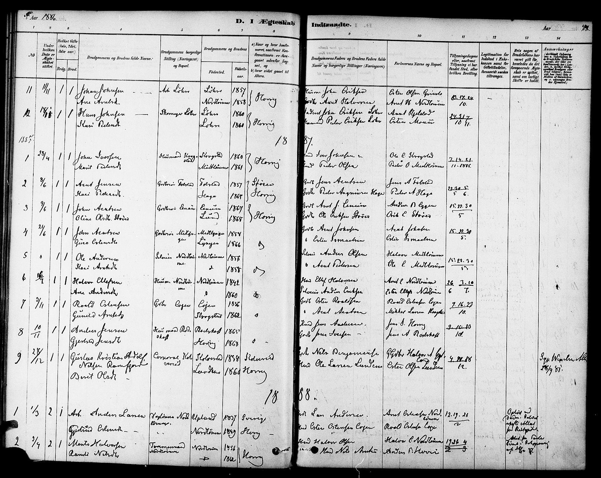 SAT, Ministerialprotokoller, klokkerbøker og fødselsregistre - Sør-Trøndelag, 692/L1105: Ministerialbok nr. 692A05, 1878-1890, s. 118