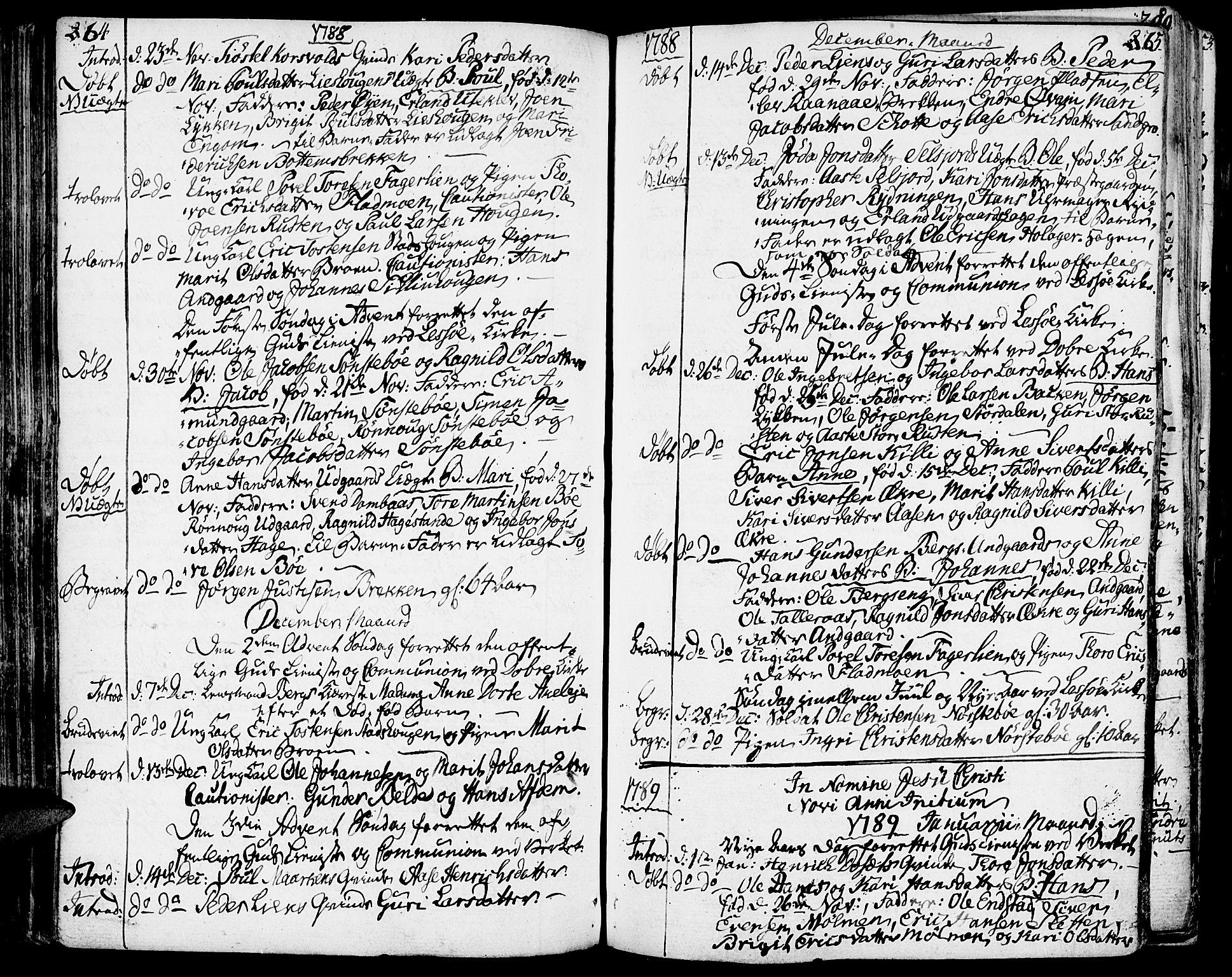 SAH, Lesja prestekontor, Ministerialbok nr. 3, 1777-1819, s. 264-265