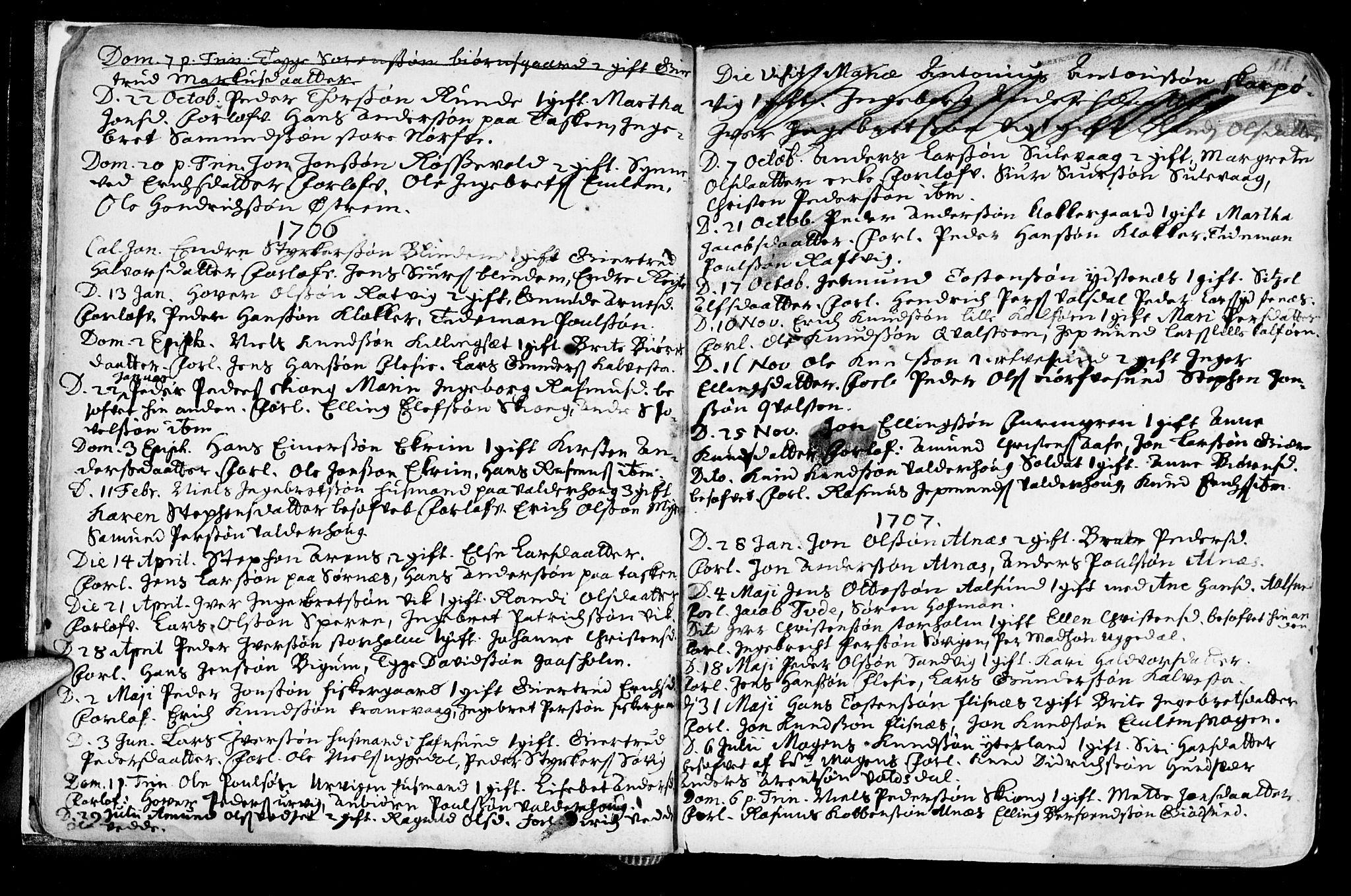 SAT, Ministerialprotokoller, klokkerbøker og fødselsregistre - Møre og Romsdal, 528/L0390: Ministerialbok nr. 528A01, 1698-1739, s. 10-11