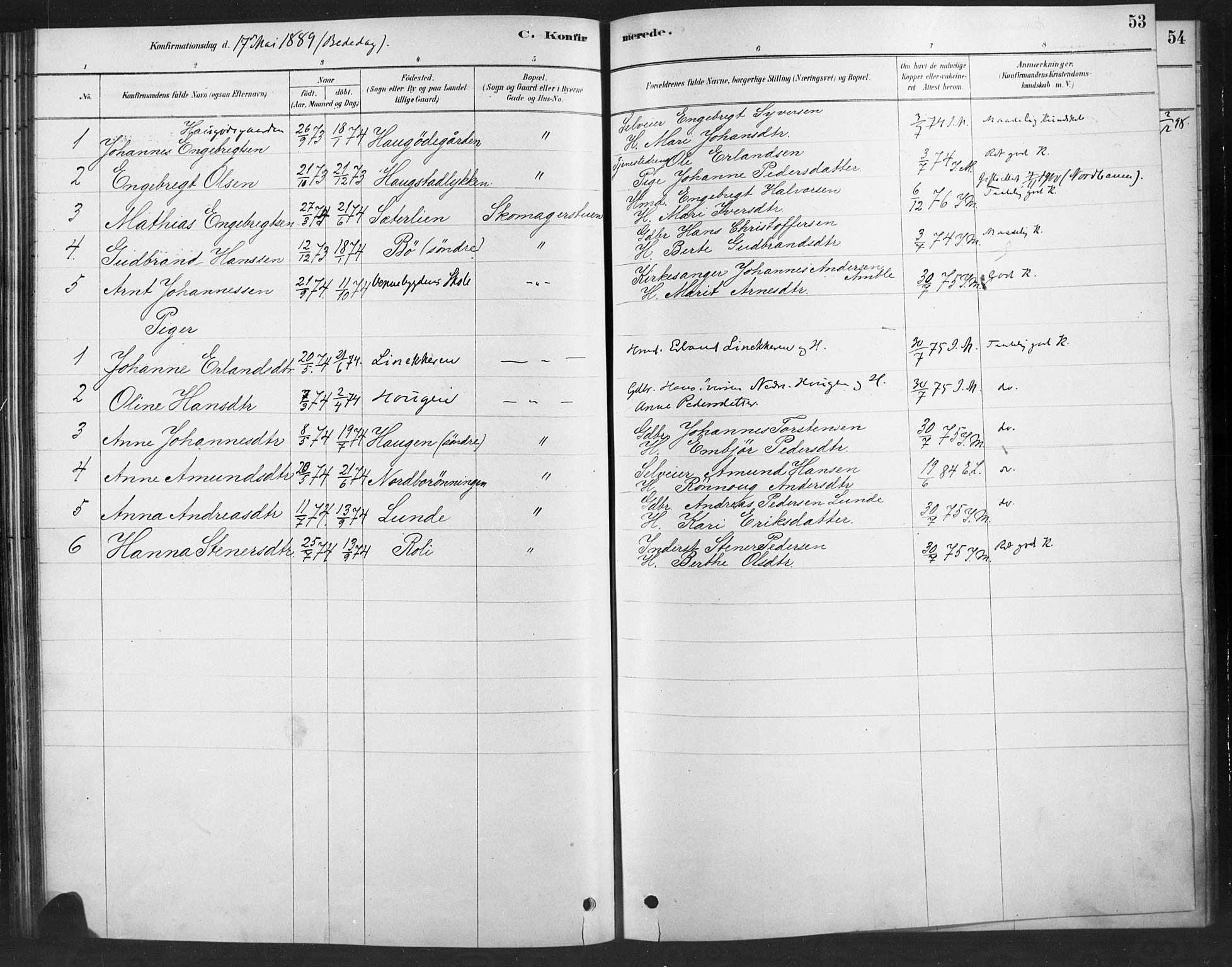 SAH, Ringebu prestekontor, Ministerialbok nr. 10, 1878-1898, s. 53