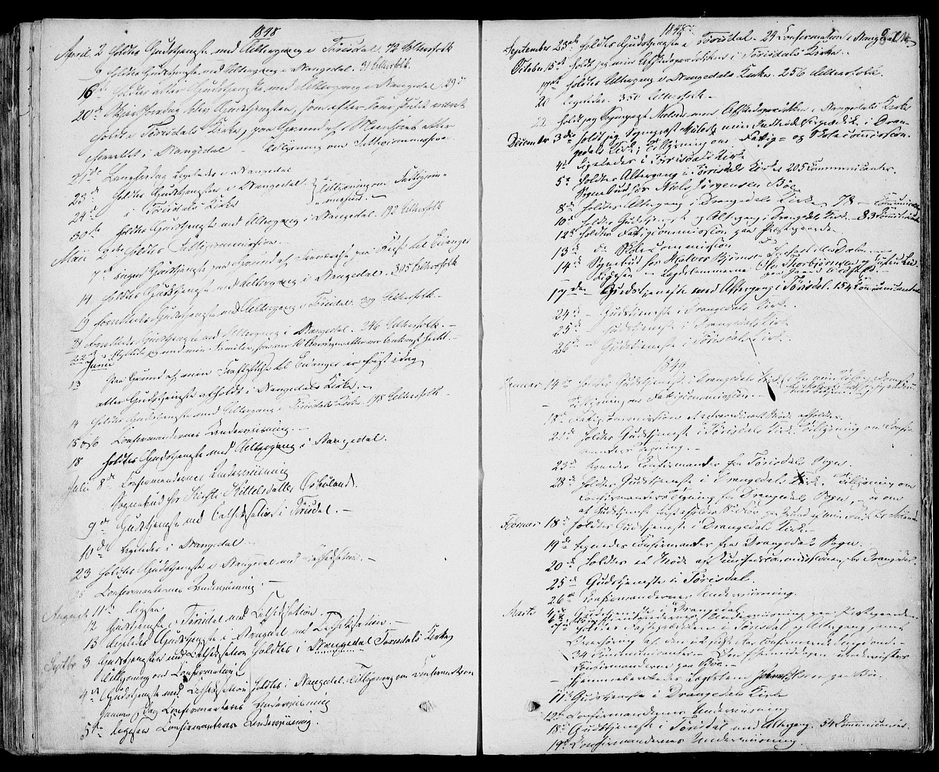 SAKO, Drangedal kirkebøker, F/Fa/L0007b: Ministerialbok nr. 7b, 1837-1856, s. 824