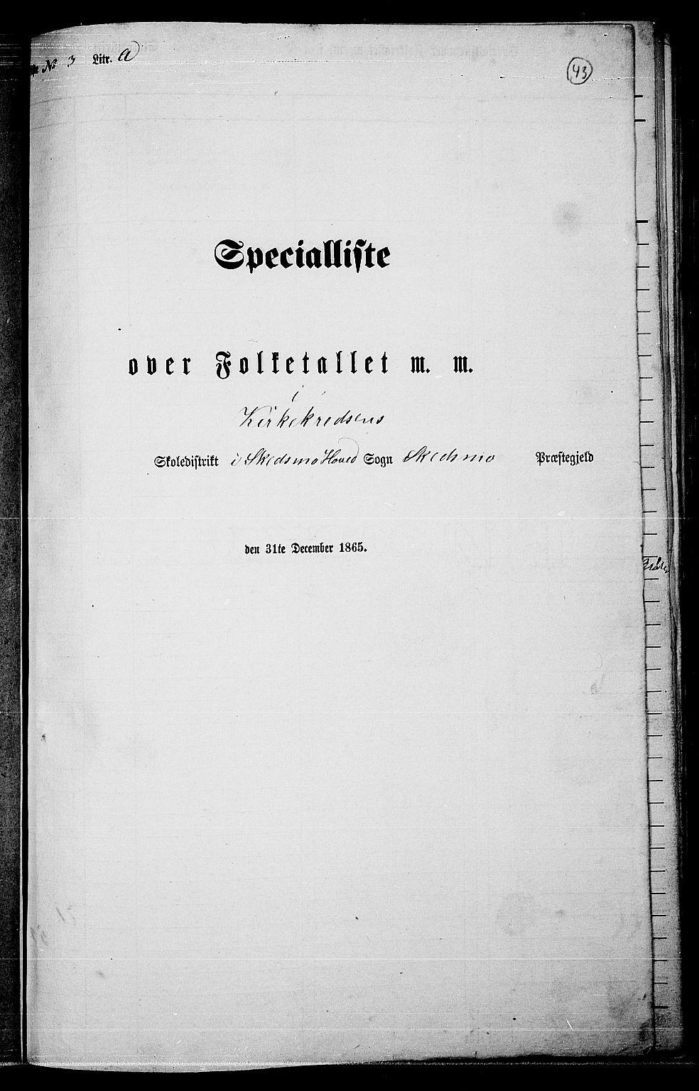 RA, Folketelling 1865 for 0231P Skedsmo prestegjeld, 1865, s. 39