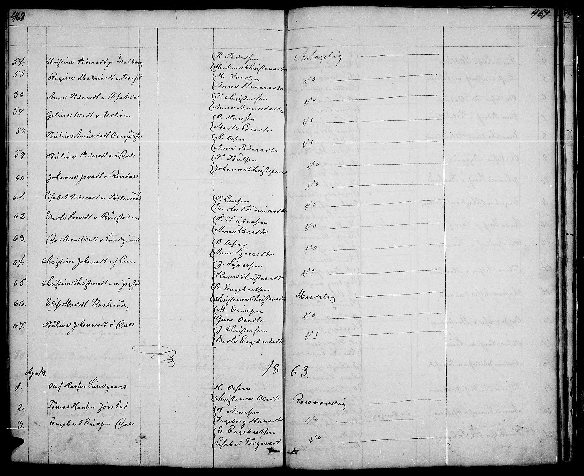 SAH, Fåberg prestekontor, Klokkerbok nr. 5, 1837-1864, s. 468-469