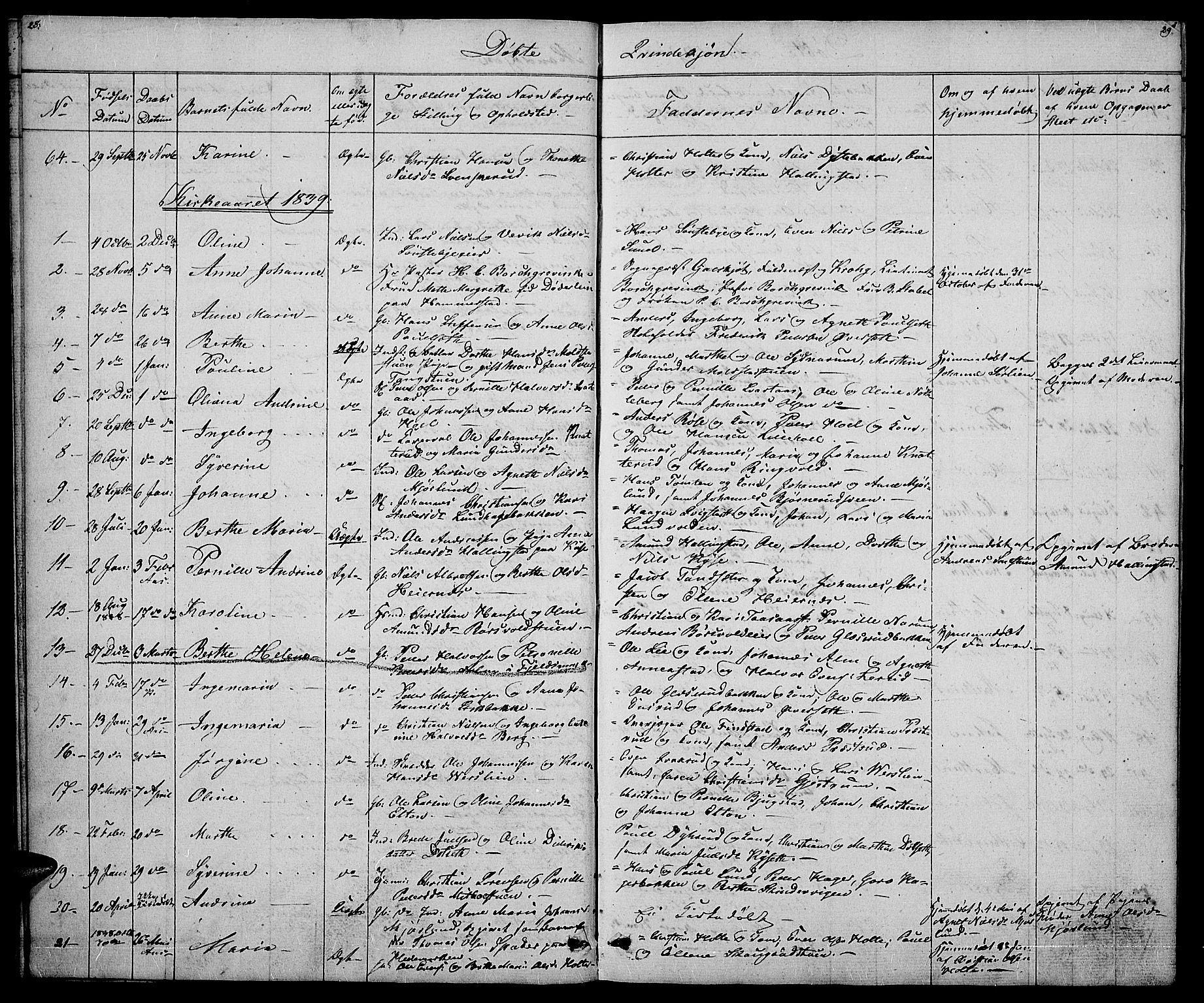 SAH, Vestre Toten prestekontor, H/Ha/Hab/L0002: Klokkerbok nr. 2, 1836-1848, s. 28-29