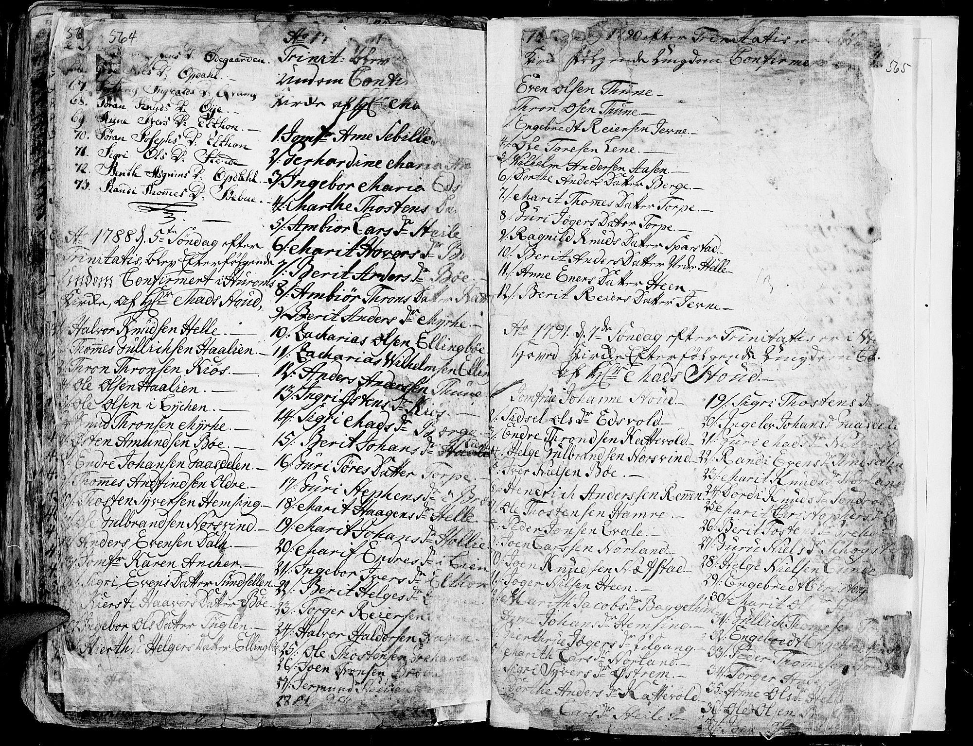 SAH, Vang prestekontor, Valdres, Ministerialbok nr. 1, 1730-1796, s. 564-565