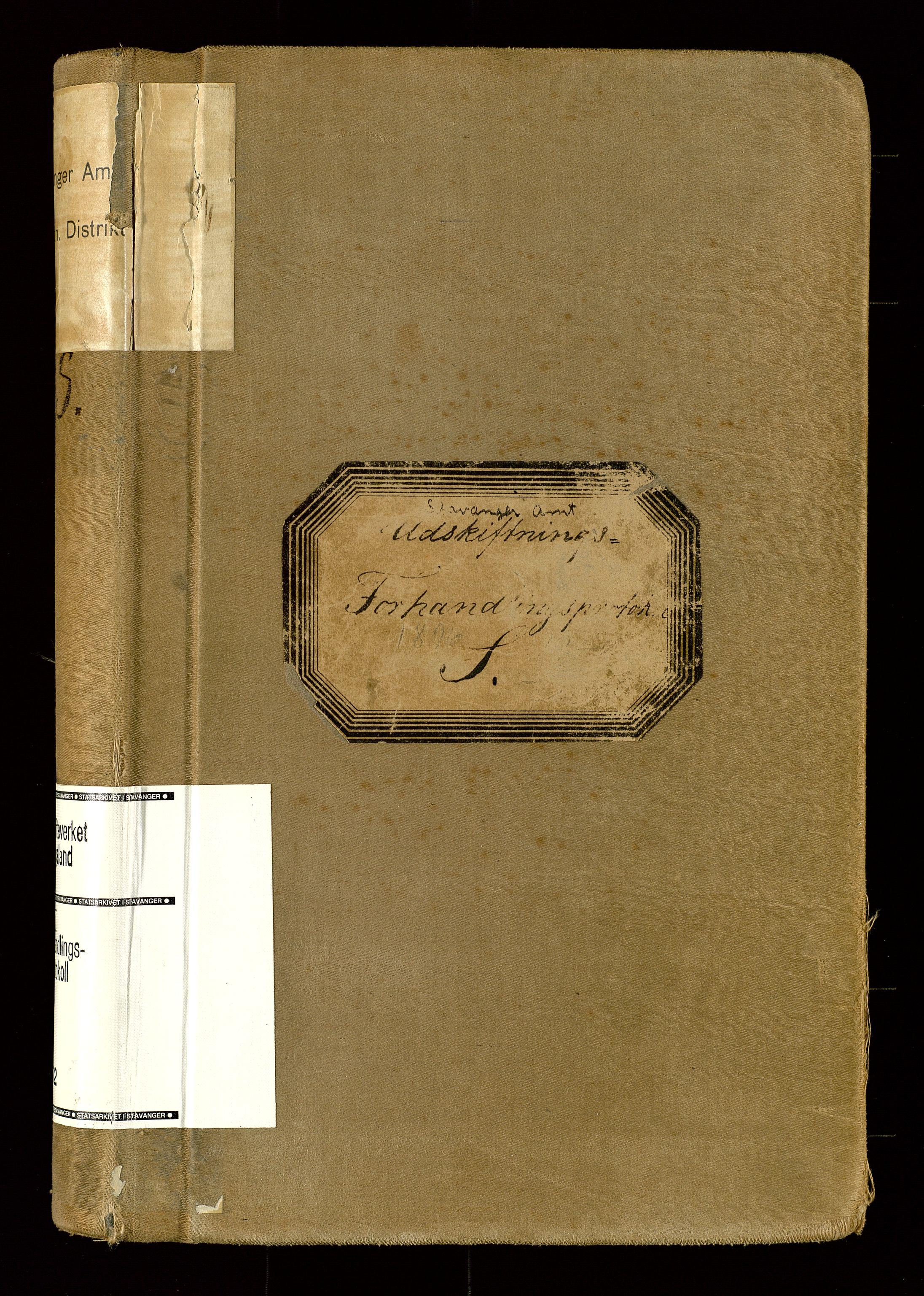 SAST, Rogaland jordskifterett, Oa/L0052: Forhandlingsprotokoll, 1896-1900