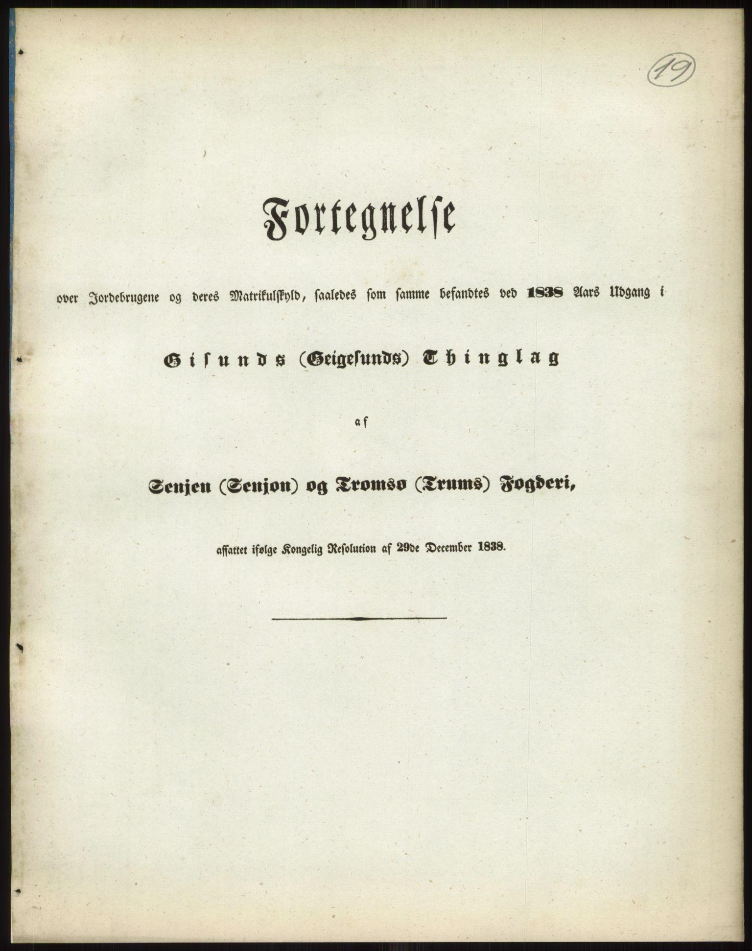 RA, 1838-matrikkelen (publikasjon)*, 1838, s. 19a