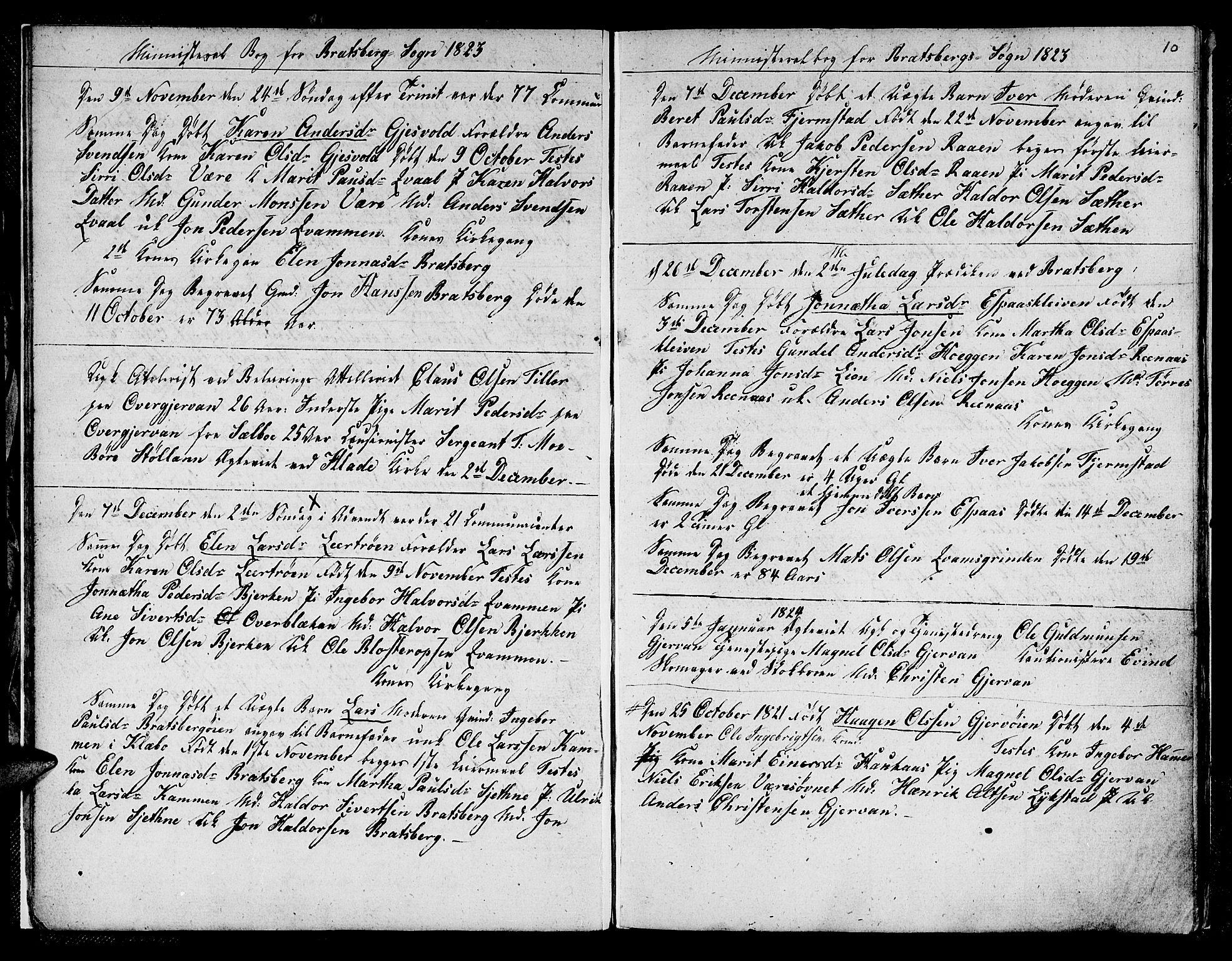 SAT, Ministerialprotokoller, klokkerbøker og fødselsregistre - Sør-Trøndelag, 608/L0337: Klokkerbok nr. 608C03, 1821-1831, s. 10